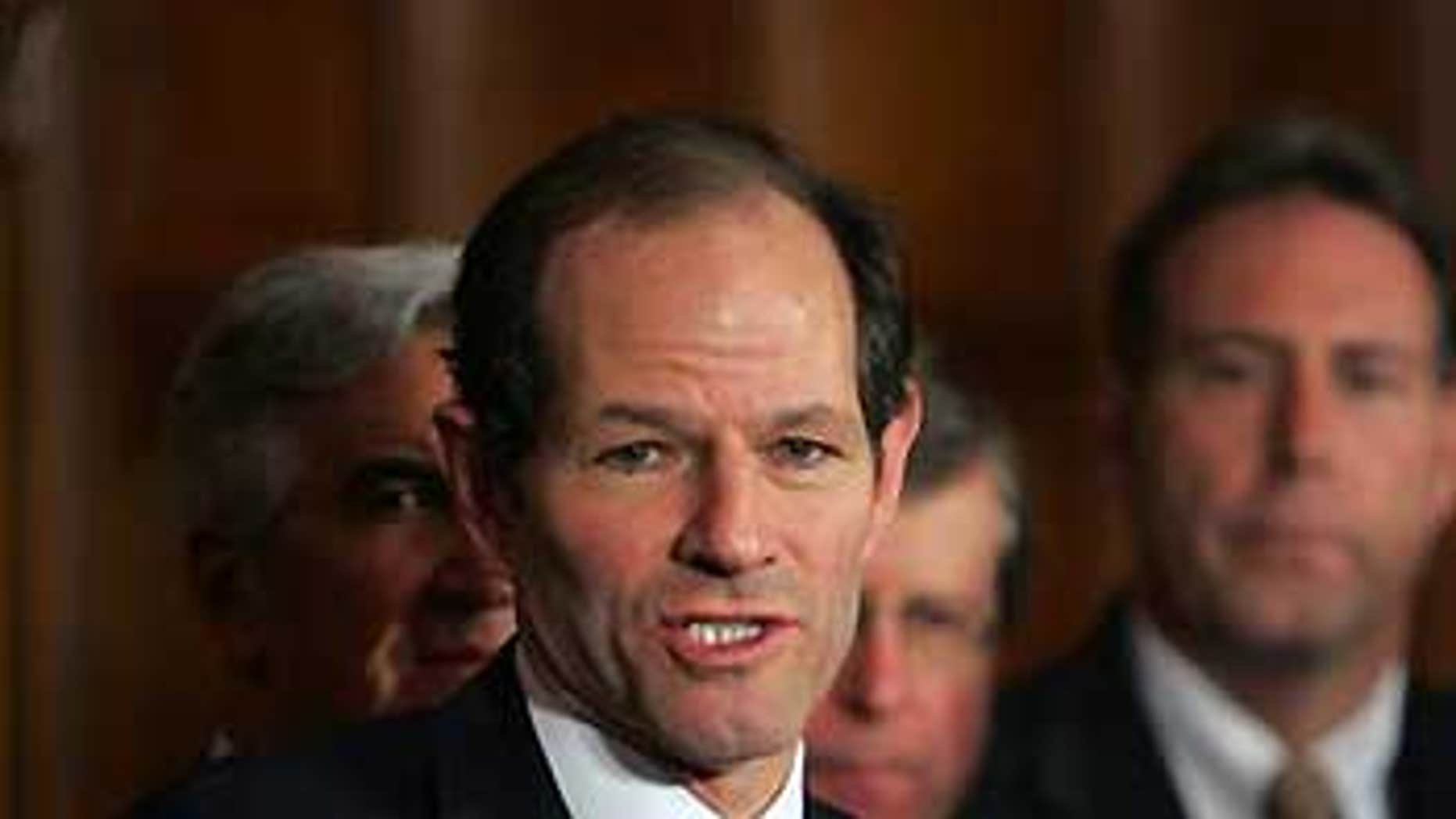 Feb. 27: Gov. Eliot Spitzer speaks at a news conference in Albany, N.Y.