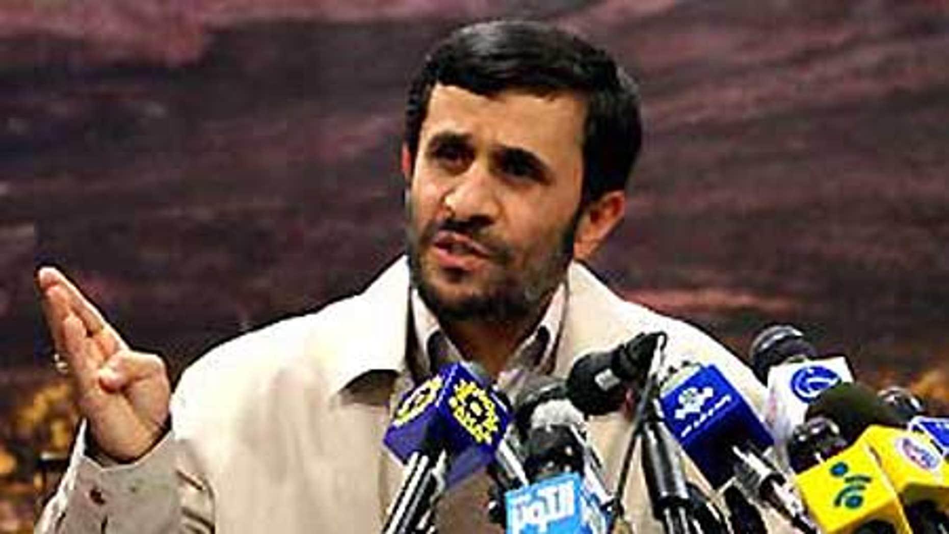 File: Mahmoud Ahmadinejad