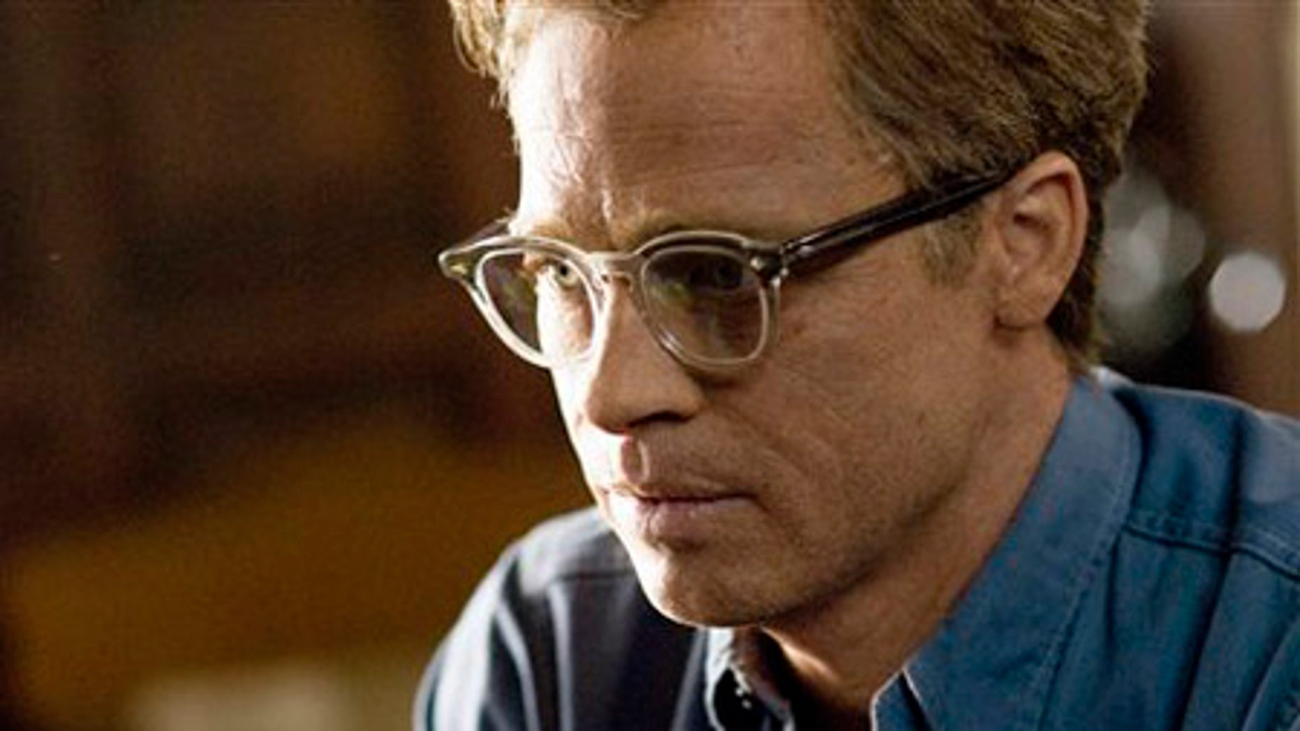 """**FOR USE AS DESIRED** In this image released by Paramount Pictures, Brad Pitt is shown in a scene from, """"The Curious Case of Benjamin Button.""""  Pitt was nominated for an Academy Award for best actor, Thursday, Jan. 22, 2009, for his role in """"The Curious Case of Benjamin Button."""" The 81st Oscars will be presented Feb. 22 in a ceremony airing on ABC from Hollywood's Kodak Theatre.  (AP Photo/Paramount Pictures, Merrick Morton) ** NO SALES **"""