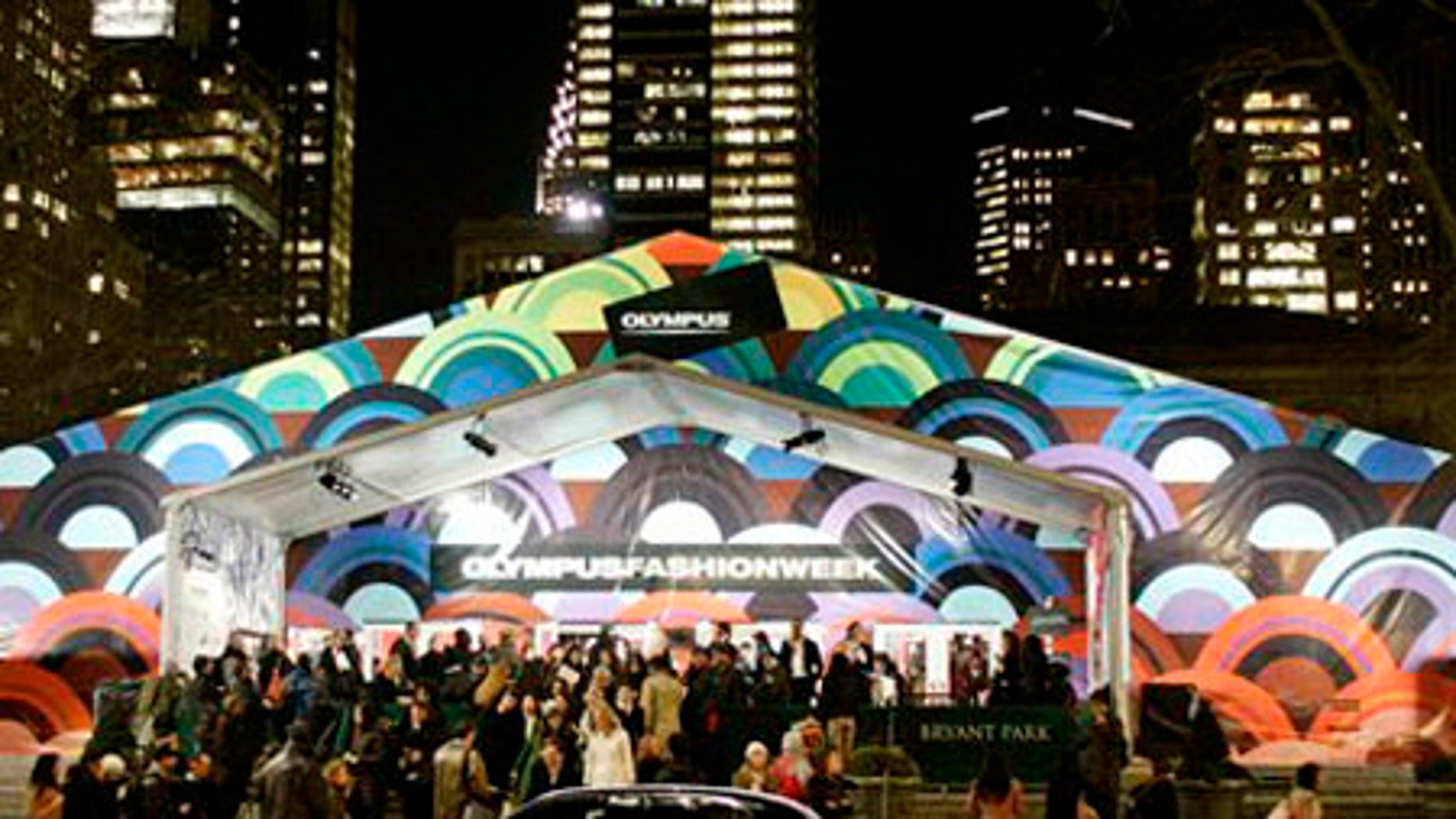 Feb. 6, 2006: This photo shows the tents in Bryant Park during Fashion Week. In 2010, Fashion Week will move to Lincoln Center.