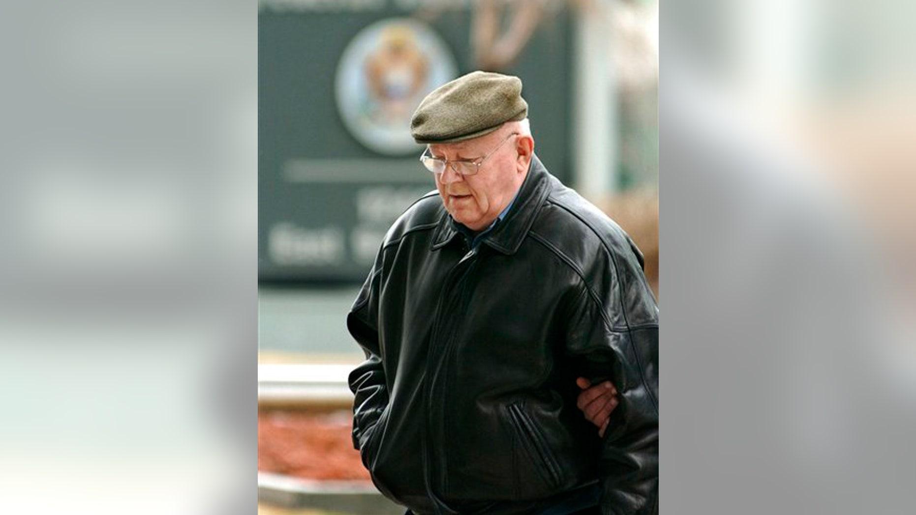 Feb. 28, 2005: Accused Nazi death camp guard John Demjanjuk arrives at the federal building in Cleveland.