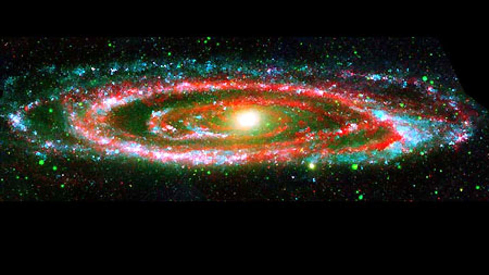 The Andromeda galaxy in a NASA composite image.