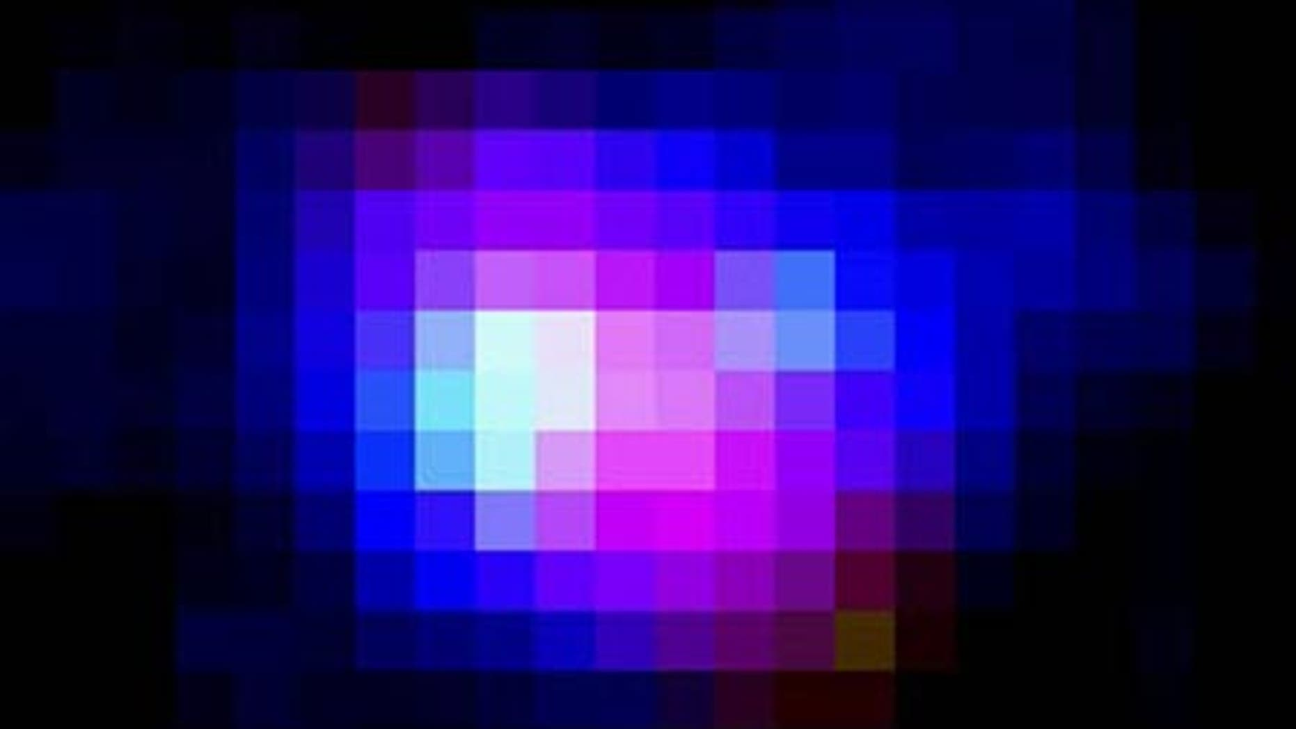 This image of the Himiko object, the most massive object ever discovered in the early universe, is a composite and in false color.