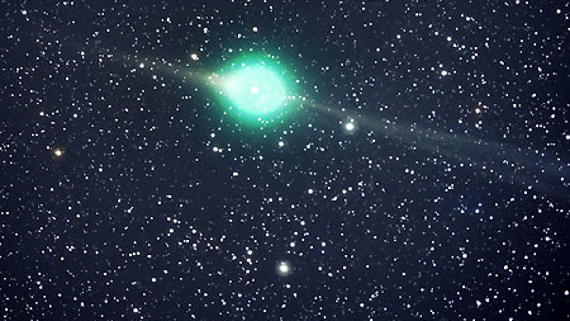 Feb. 1: Comet Lulin as photographed by amateur astronomer Jack Newton in Arizona.