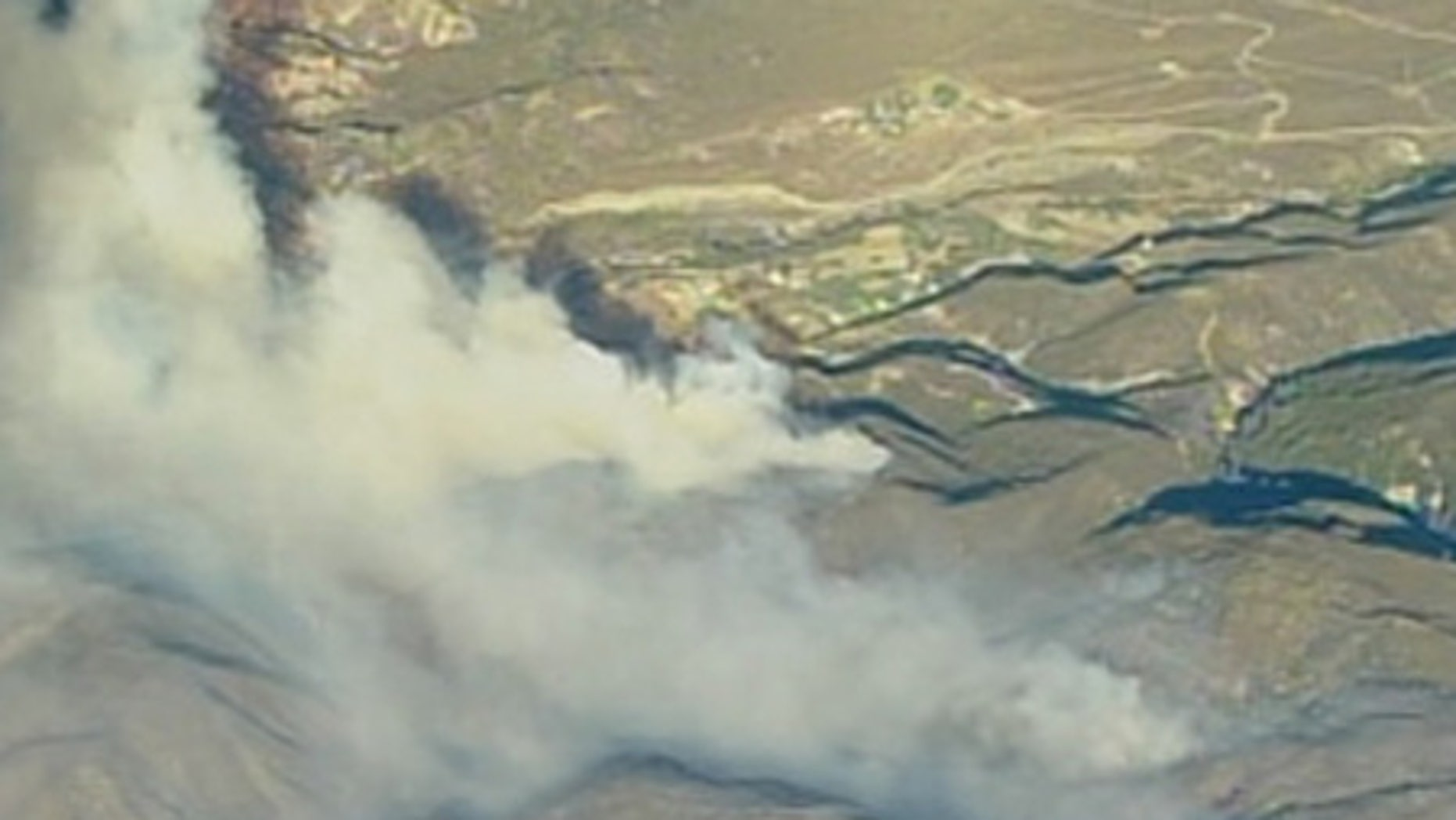 Forest fire burns in Southern California.