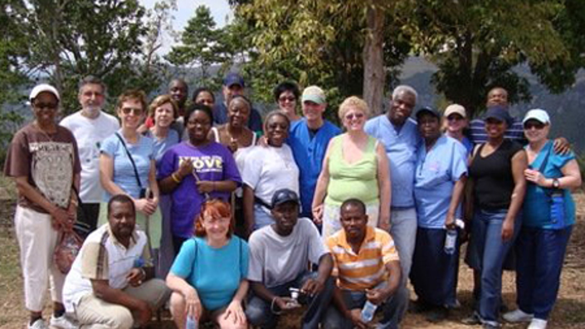 Yamilee Bazile, second row, third from left, is seen here in March 2009 on a Dental Medical Mission in Haiti organized by several New Jersey parishes.