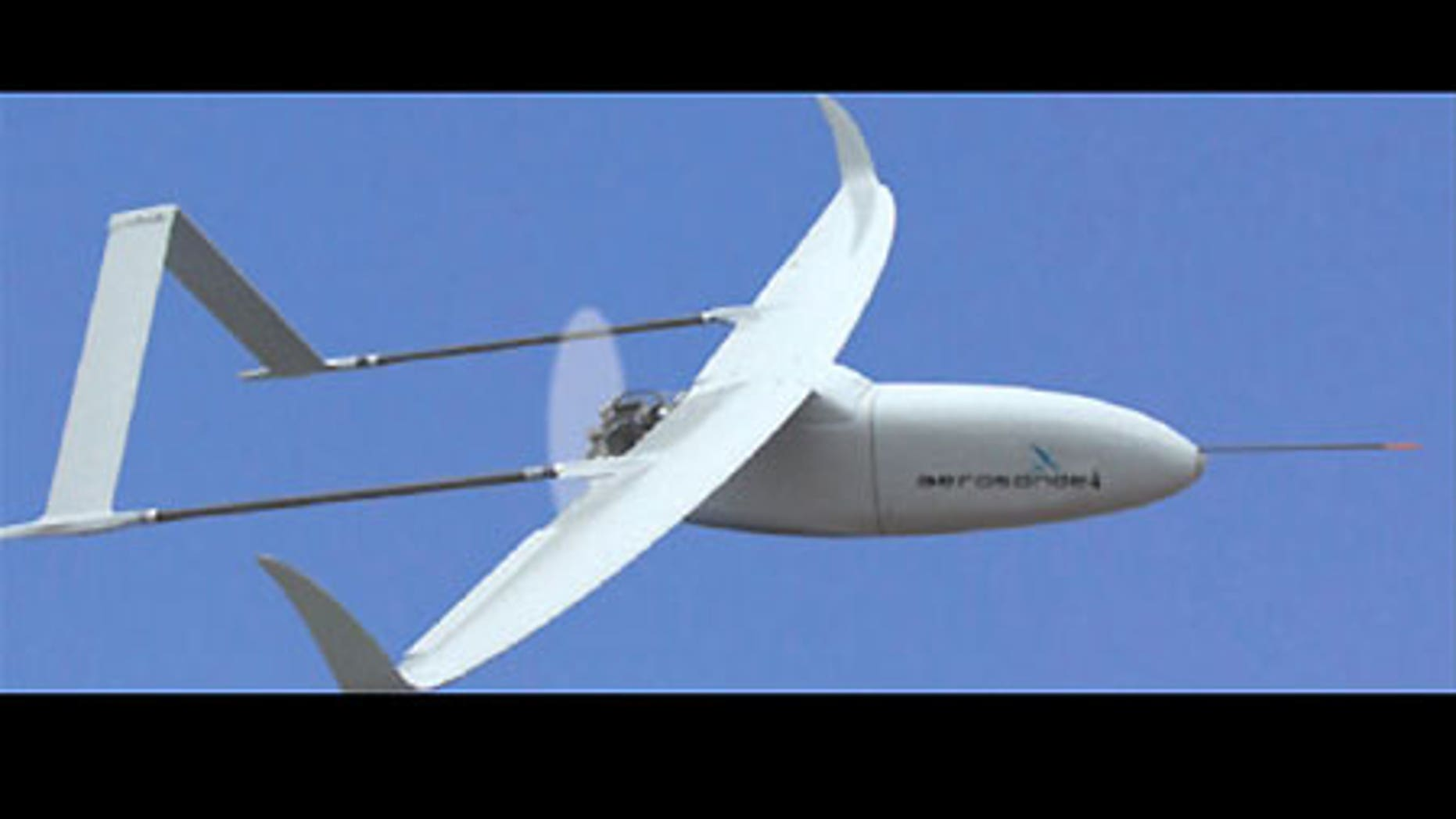 Kansas State's Aerosonde unmanned aerial vehicle.