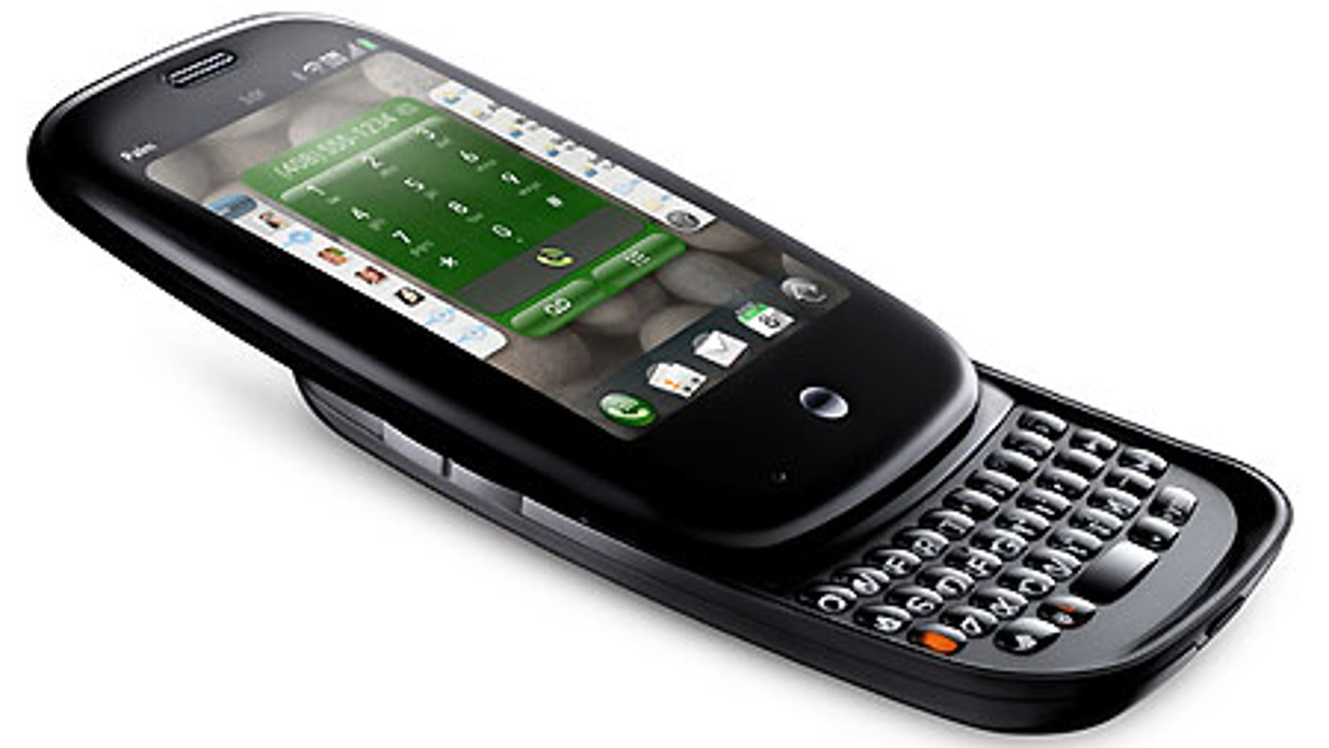 Palm's Pre smartphone slides open to reveal a modified QWERTY keyboard.