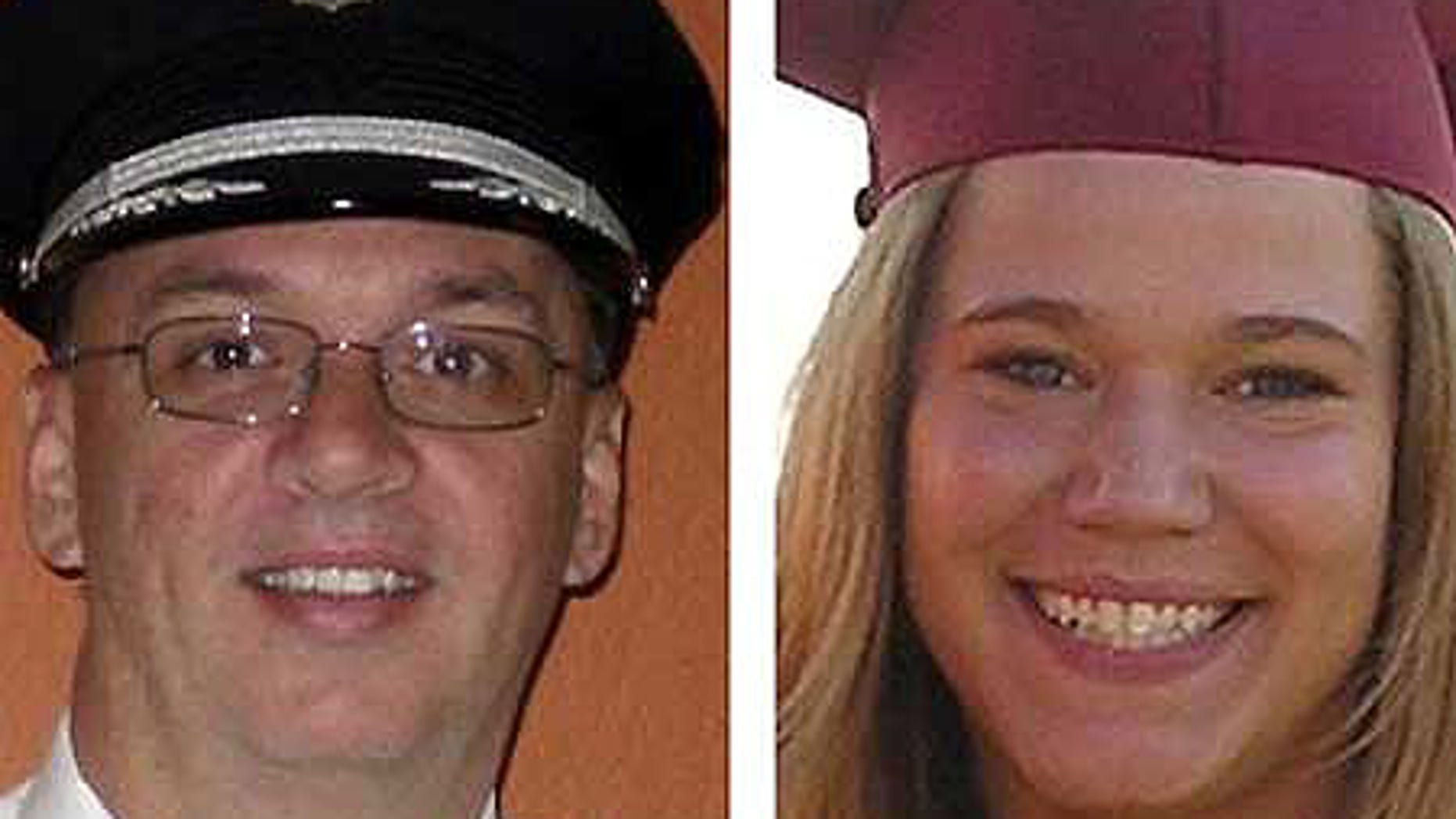 Flight 3407 Pilot Marvin Renslow and First Officer Rebecca Shaw.
