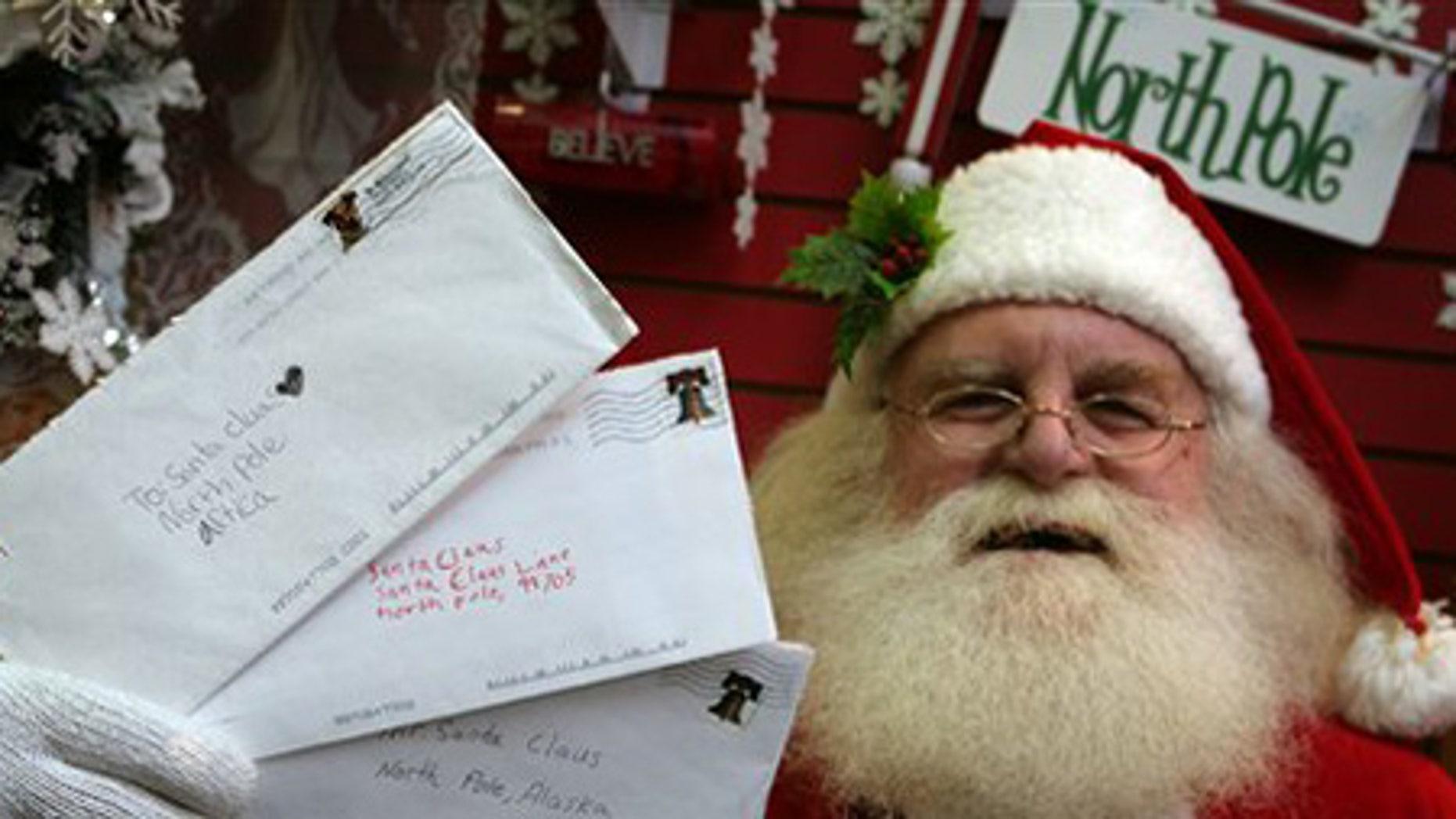 Nov. 18: Santa Claus at Santa Claus House in North Pole, Alaska.