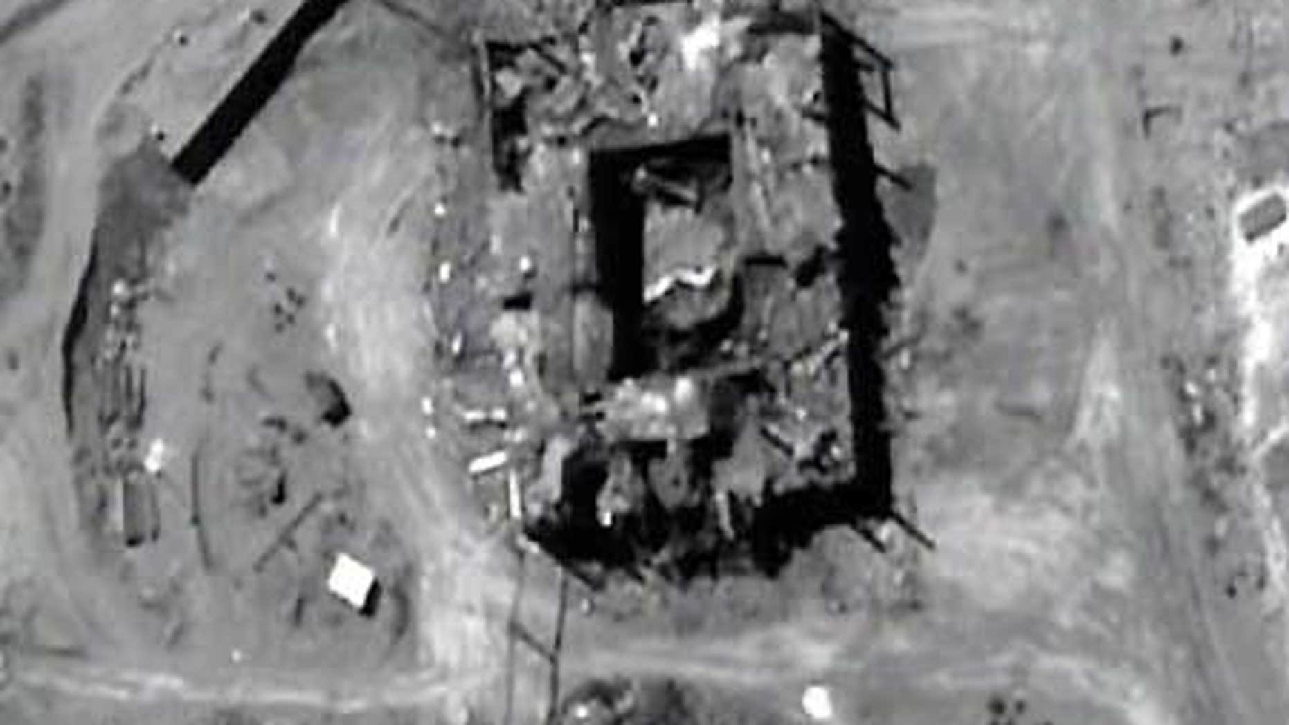 CIA image shows alleged covert nuclear reactor in Syria.