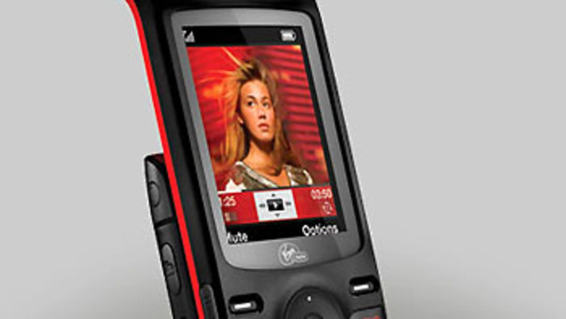 Virgin Mobile's 'Shuttle' phone, made by UTStarcom.