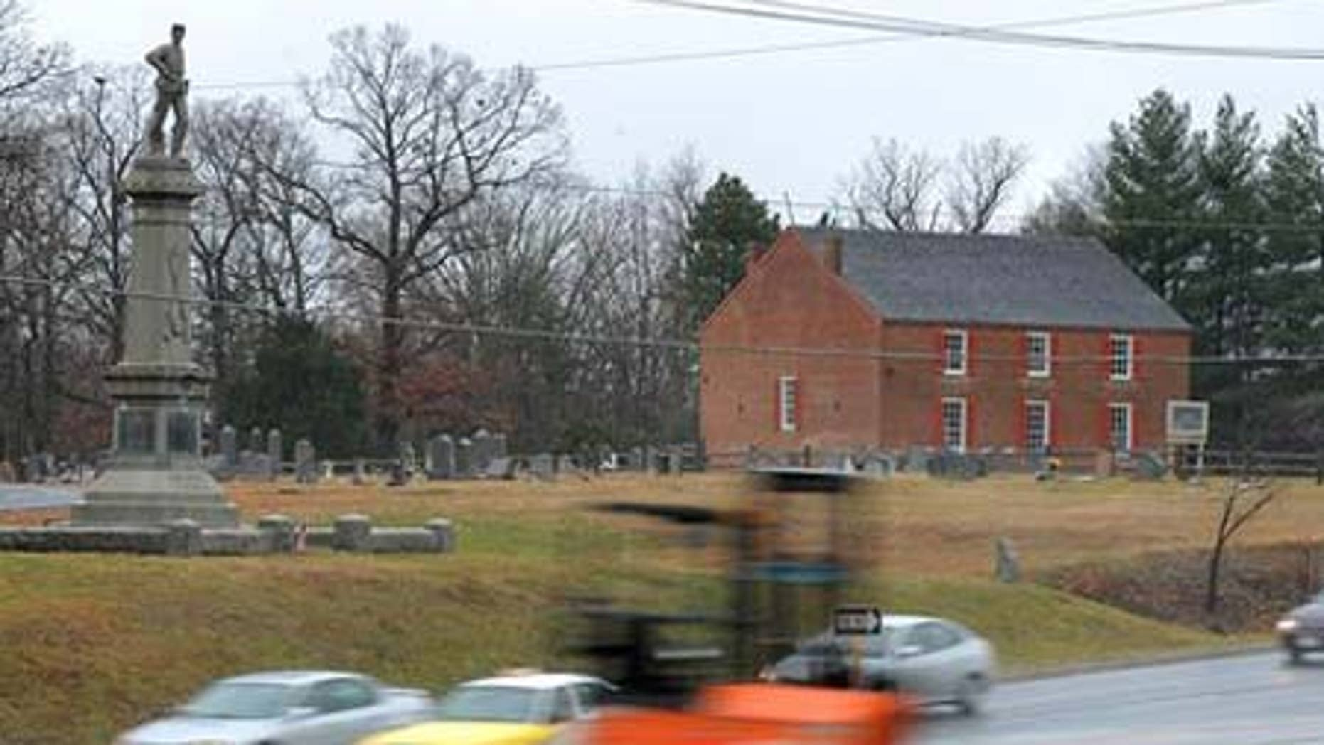 Dec. 10, 2008: A view of Salem Church Battlefield site in Fredericksburg, Va.