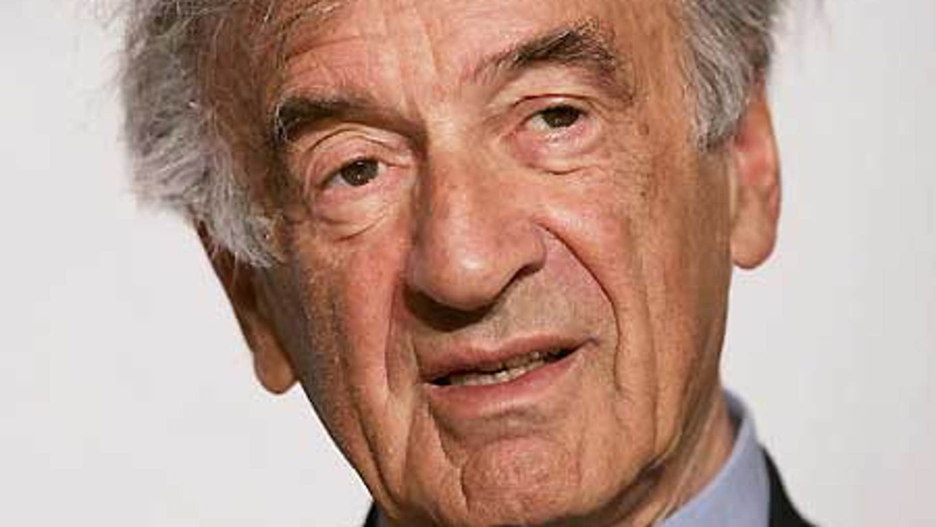 Holocaust survivor and author Elie Wiesel. (AP)