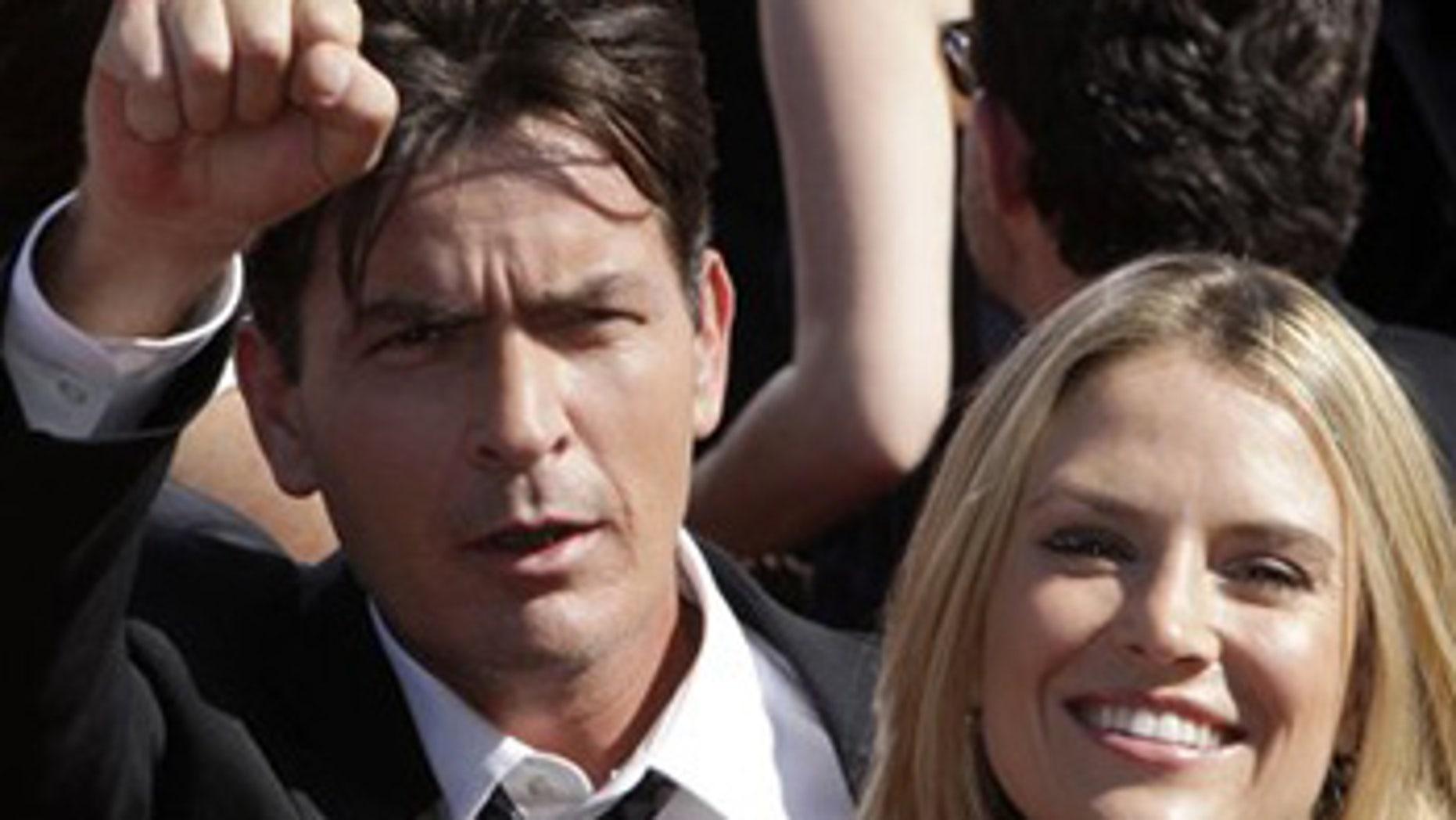 Sept. 16: Actor Charlie Sheen and Brooke Mueller arrive at the 59th Primetime Emmy Awards.