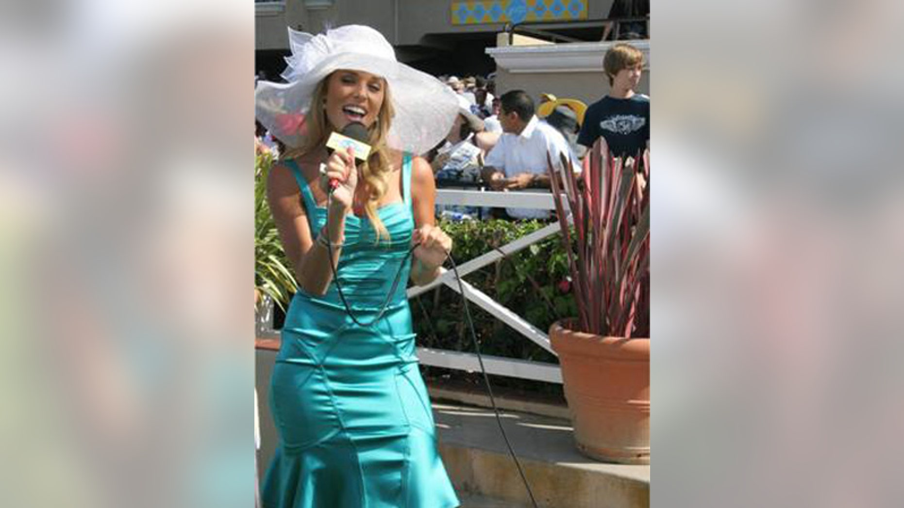 Carrie Prejean at Opening Day at Del Mar Racetrack