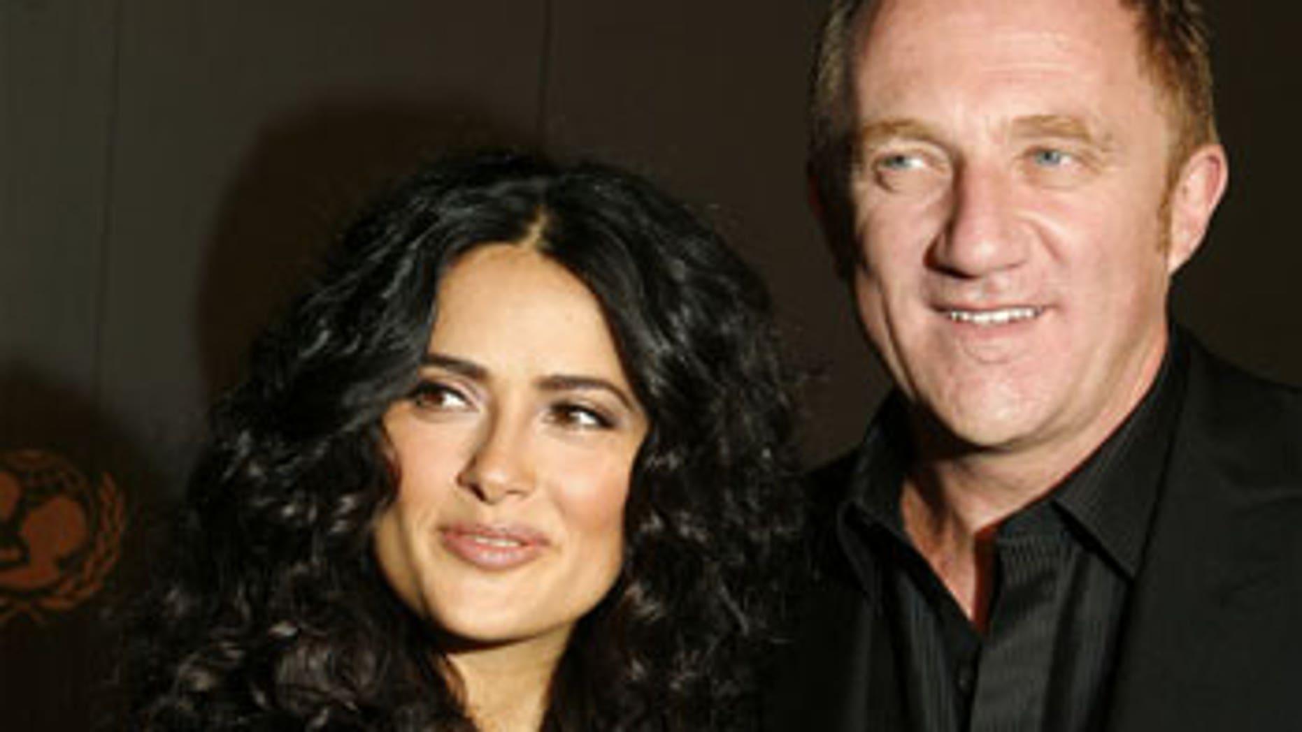 Salma Hayek and husband, French billionaire Francois Henri Pinault.