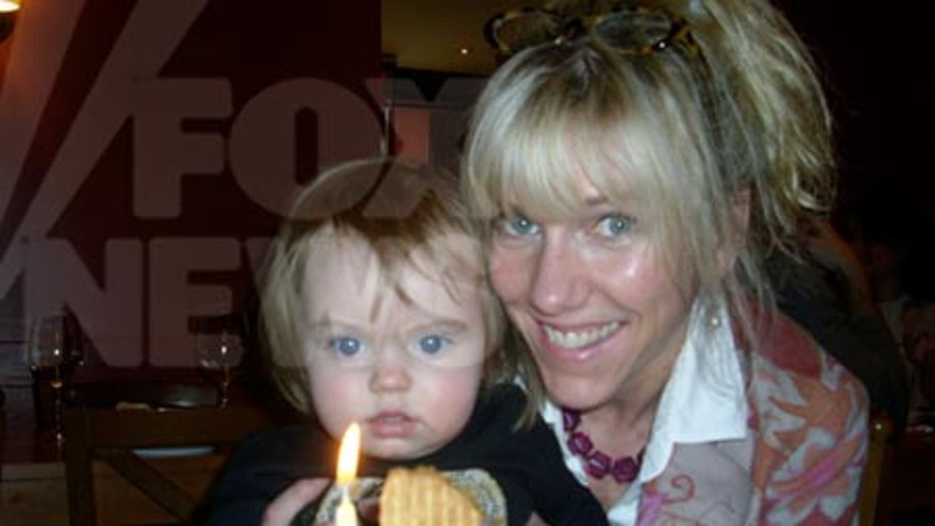 Frances Quinn Hunter celebrates her first birthday with her mother, Rielle Hunter.