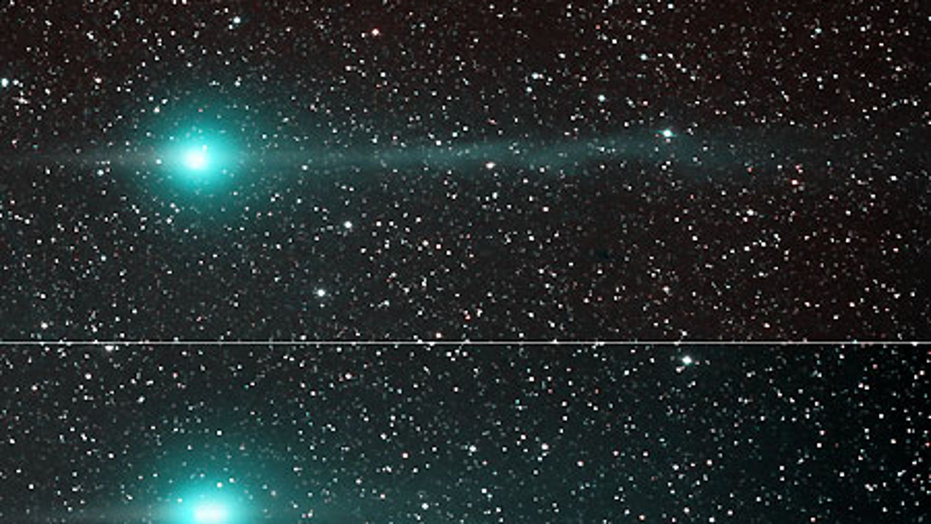 Jan. 31: Comet Lulin as spotted by a telescope in New Mexico.