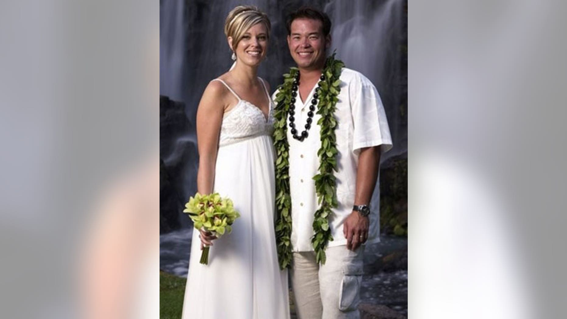 Jon and Kate Gosselin in happier times, shown here renewing their wedding vows in Hawaii in 2008.
