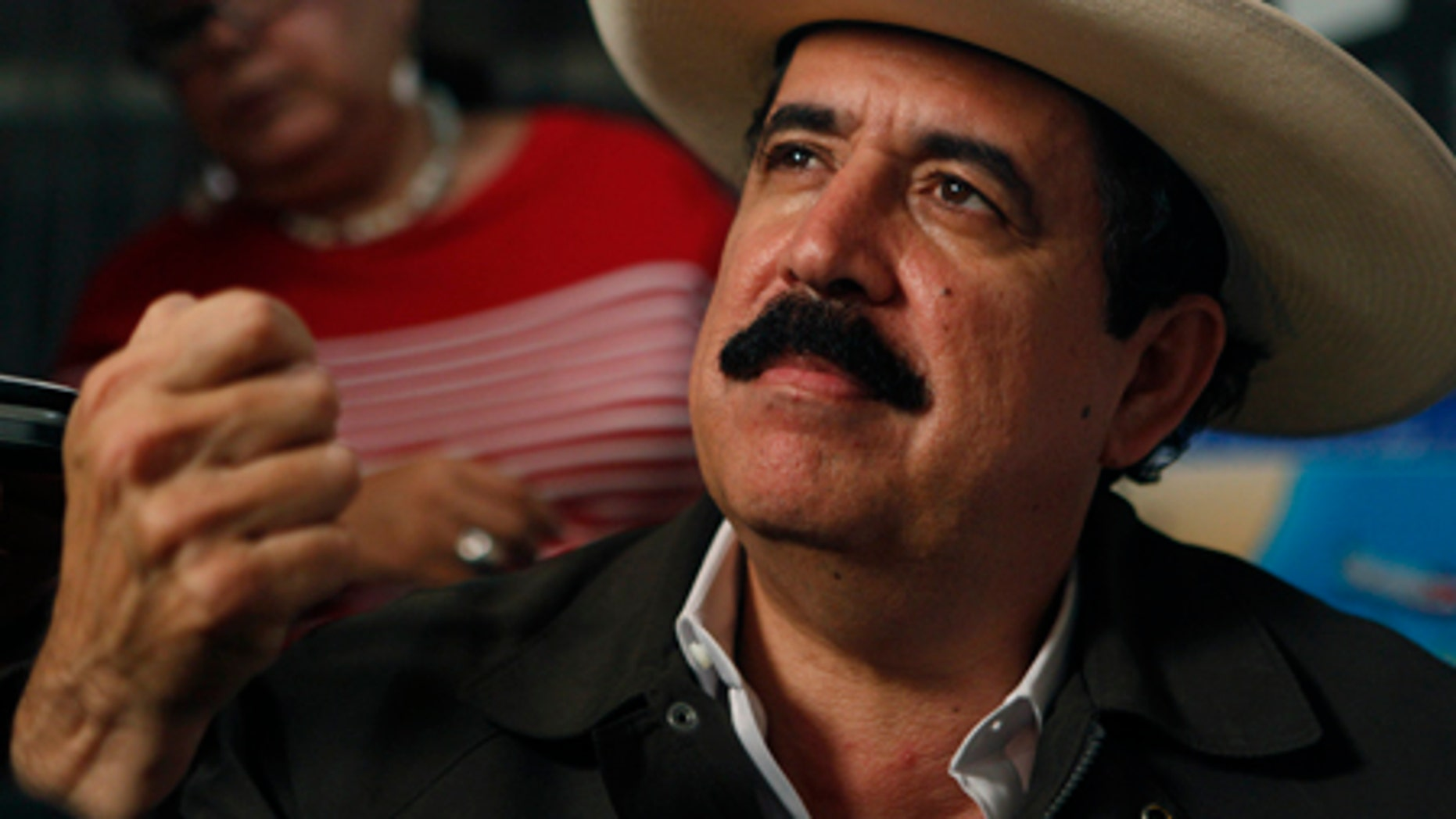 July 17, 2009: Honduras' ousted President Manuel Zelaya answers questions during a news conference in Managua.