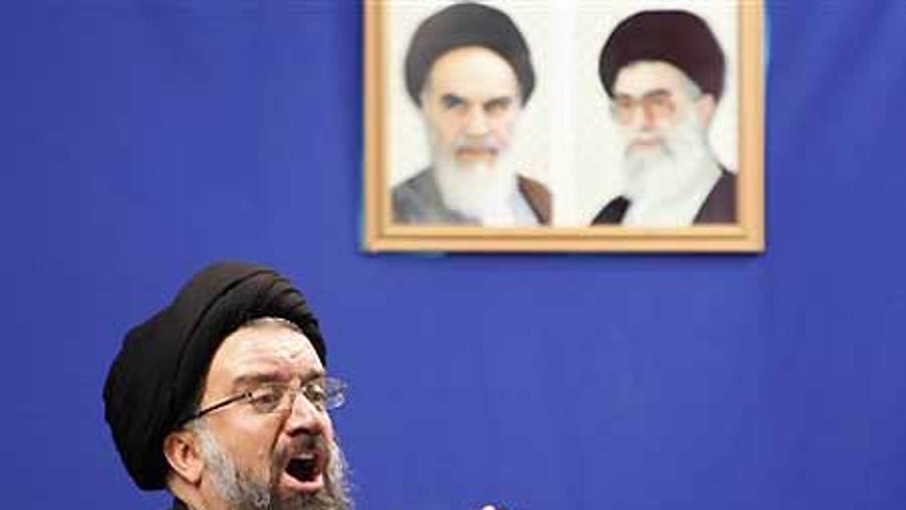 Friday June 26: Iranian senior hard-line cleric Ayatollah Ahmad Khatami urged government to punish post-election rioters during Friday prayers.