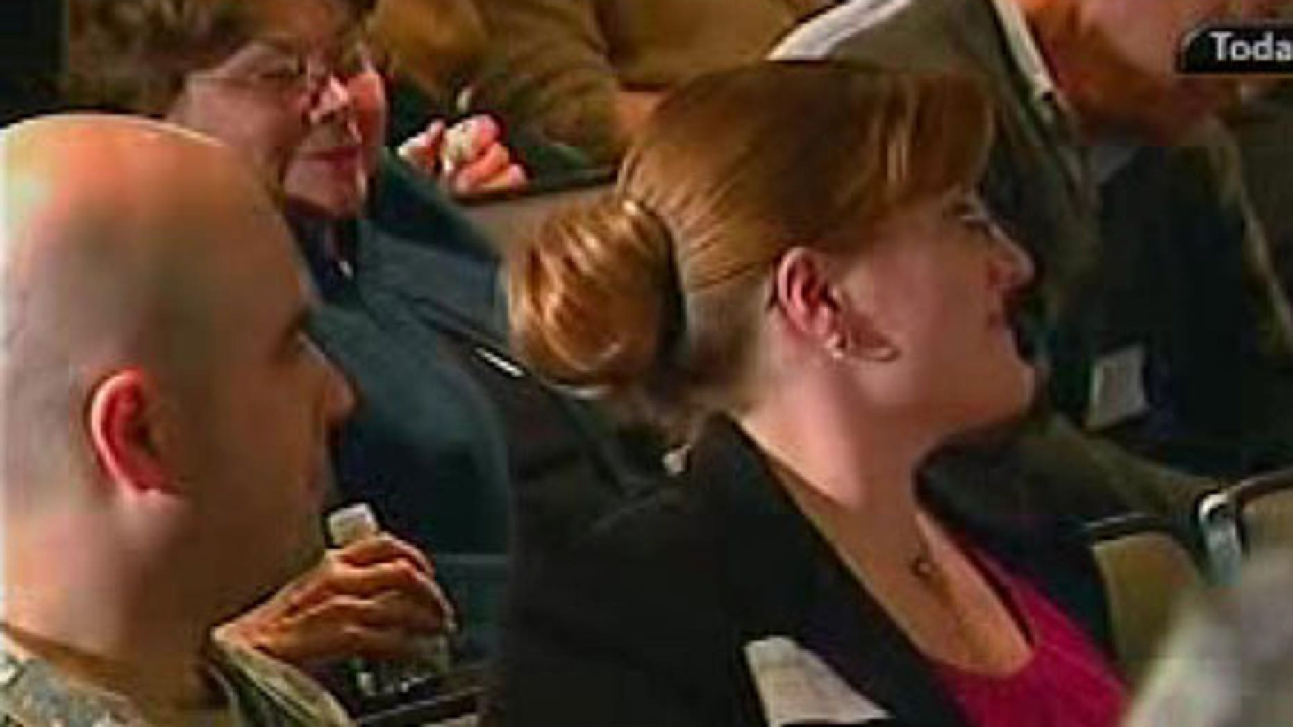 Army Maj. Nidal Hasan is seen here at conference on the Israeli-Palestinian conflict at George Washington University in January.