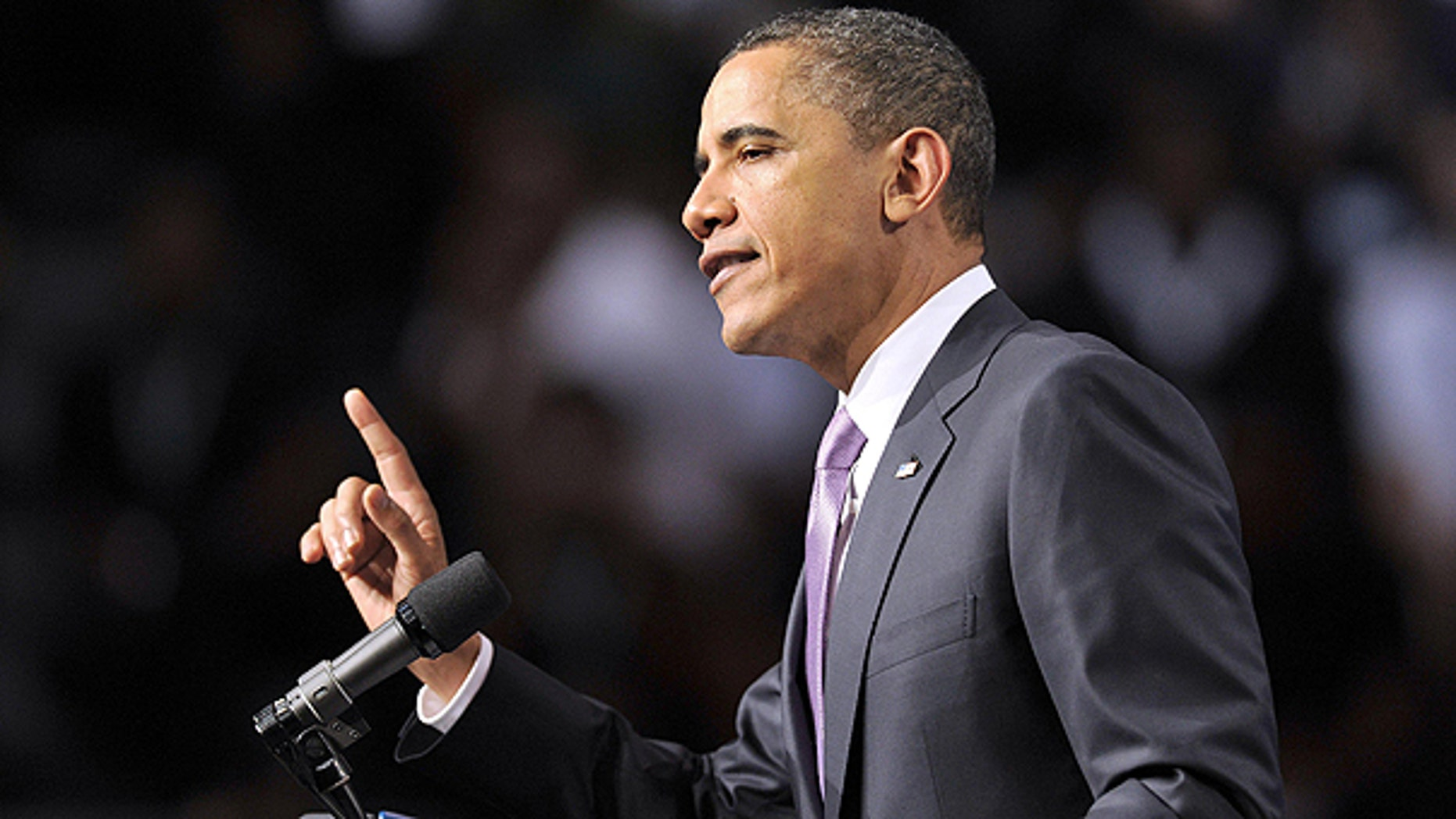 March 4: President Obama gestures while speaking at Miami Central Senior High School in Miami.