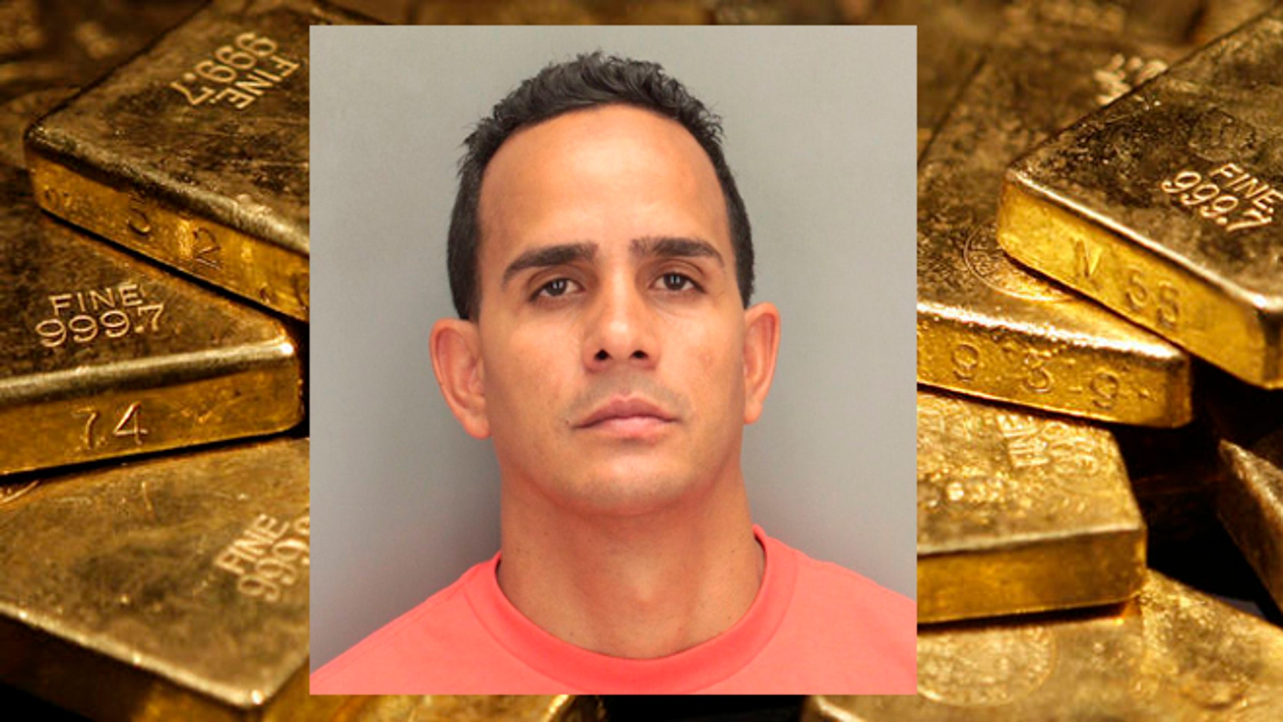 Raonel Valdez skipped bail in Miami following a $2.8 million gold heist and is now believed to be either in the Bahamas or somewhere in South Florida. (AP Photo/Seth Wenig, File)
