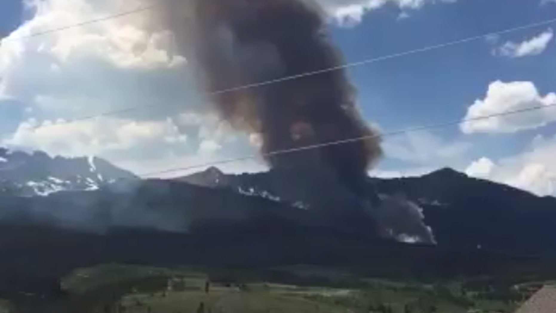 A fire near Breckenridge, Colorado broke out Wednesday afternoon.