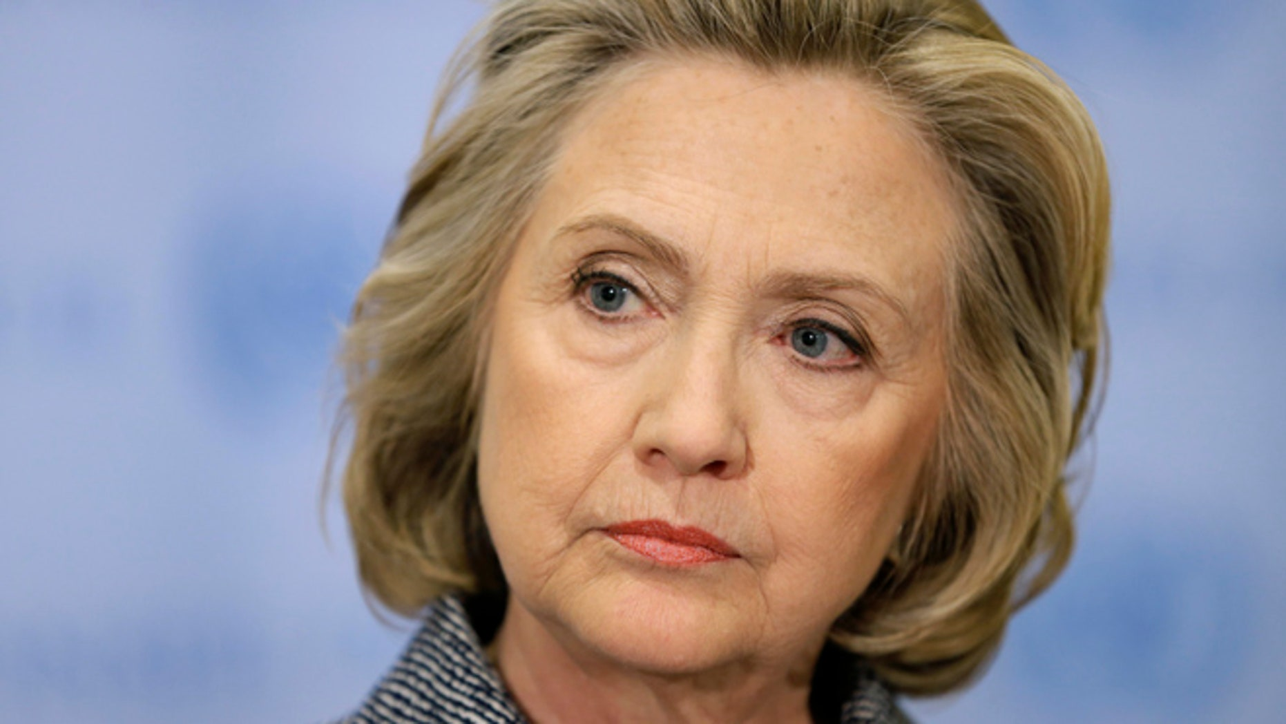 March 10, 2015: Hillary Rodham Clinton listens during a news conference at United Nations headquarters.