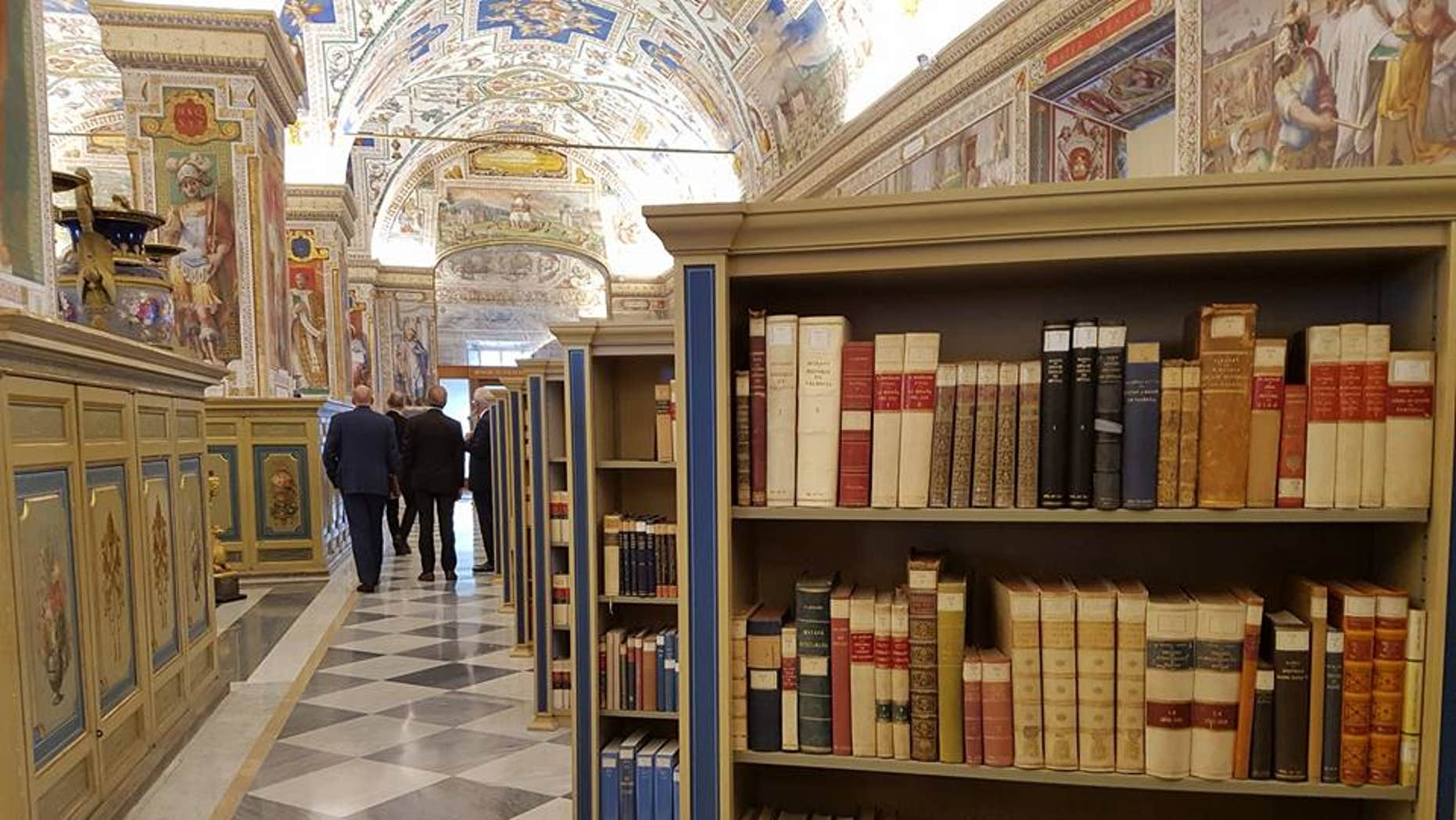Representatives from ESA and the Vatican Apostolic Library signed a declaration to continue collaboration at a ceremony held at the Vatican Library on 4 Nov. 2016, followed by a tour of the Library. (European Space Agency)