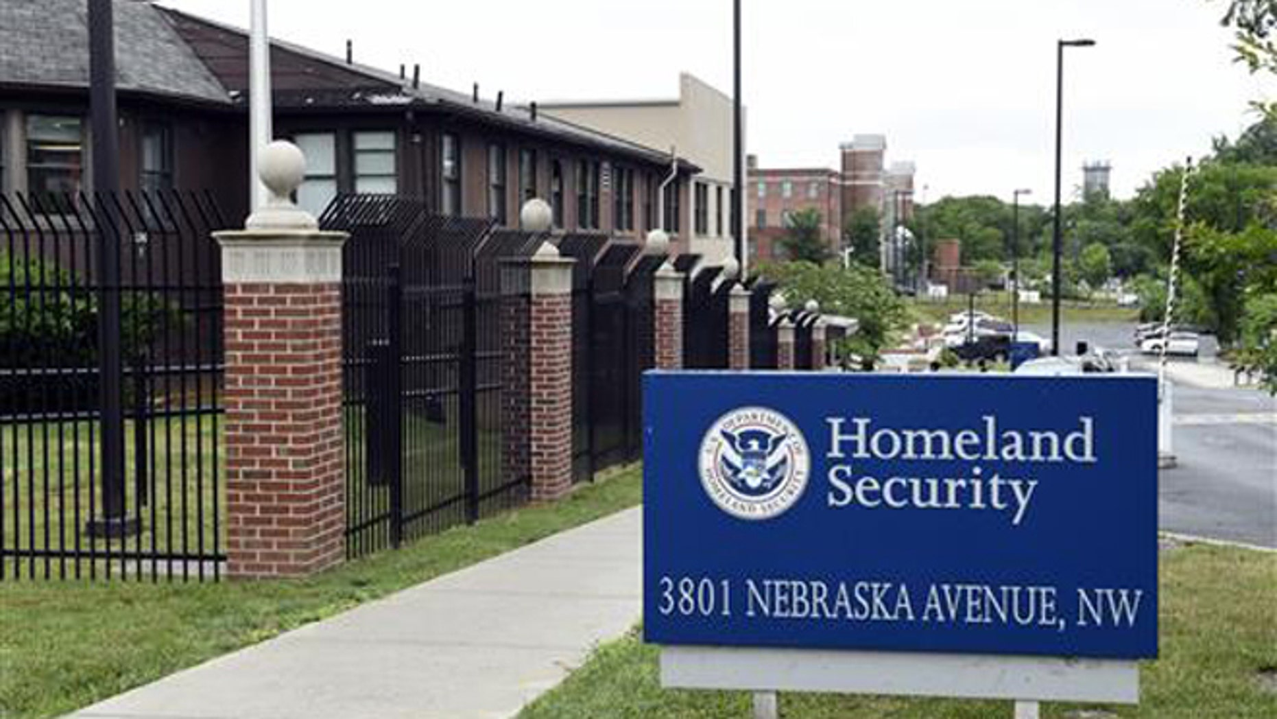 In this photo taken June 5, 2015, a view of the Homeland Security Department headquarters in Washington.