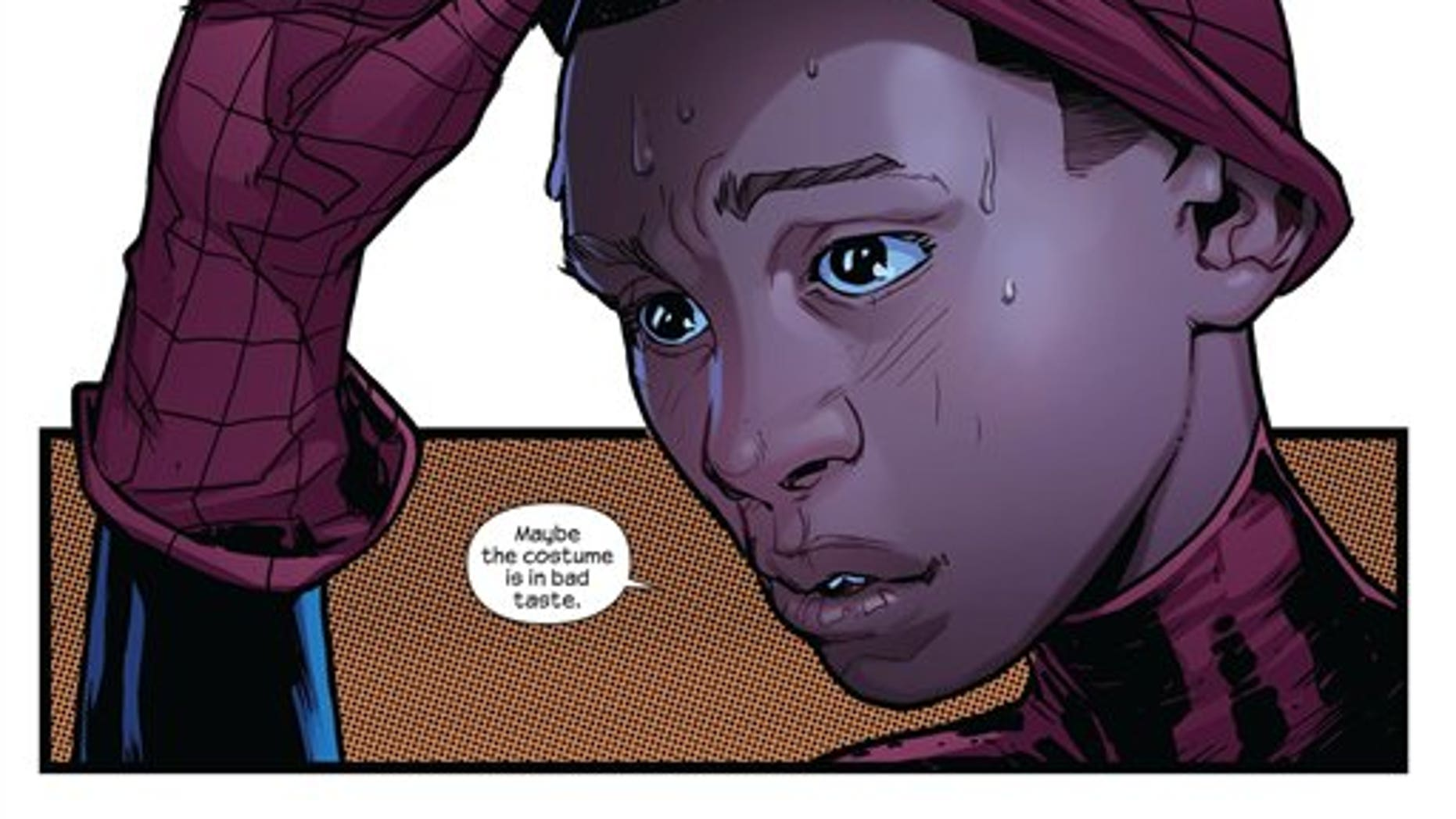In the wake of the death of Peter Parker, Ultimate Spider-Man is still slinging webs across Manhattan. In the fourth, and final, issue of Ultimate Fallout released on Wednesday, Aug. 3, 2011, the mantle of the wall-crawling hero has been taken on by Miles Morales, a young half-Latino, half-African American.