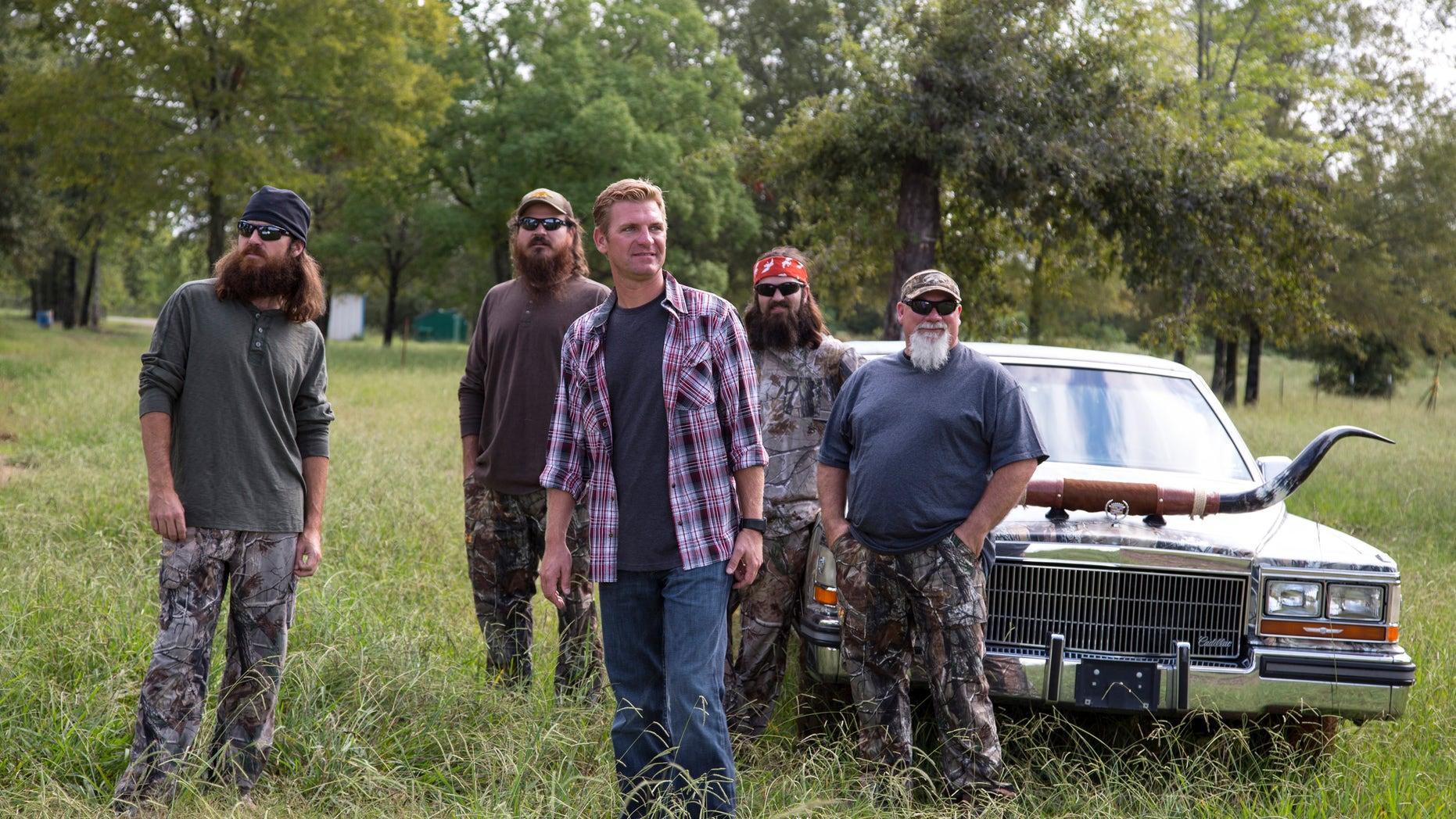 Jase Robertson, Justin Martin, Clint Bowyer, Jep Robertson and John Godwin.
