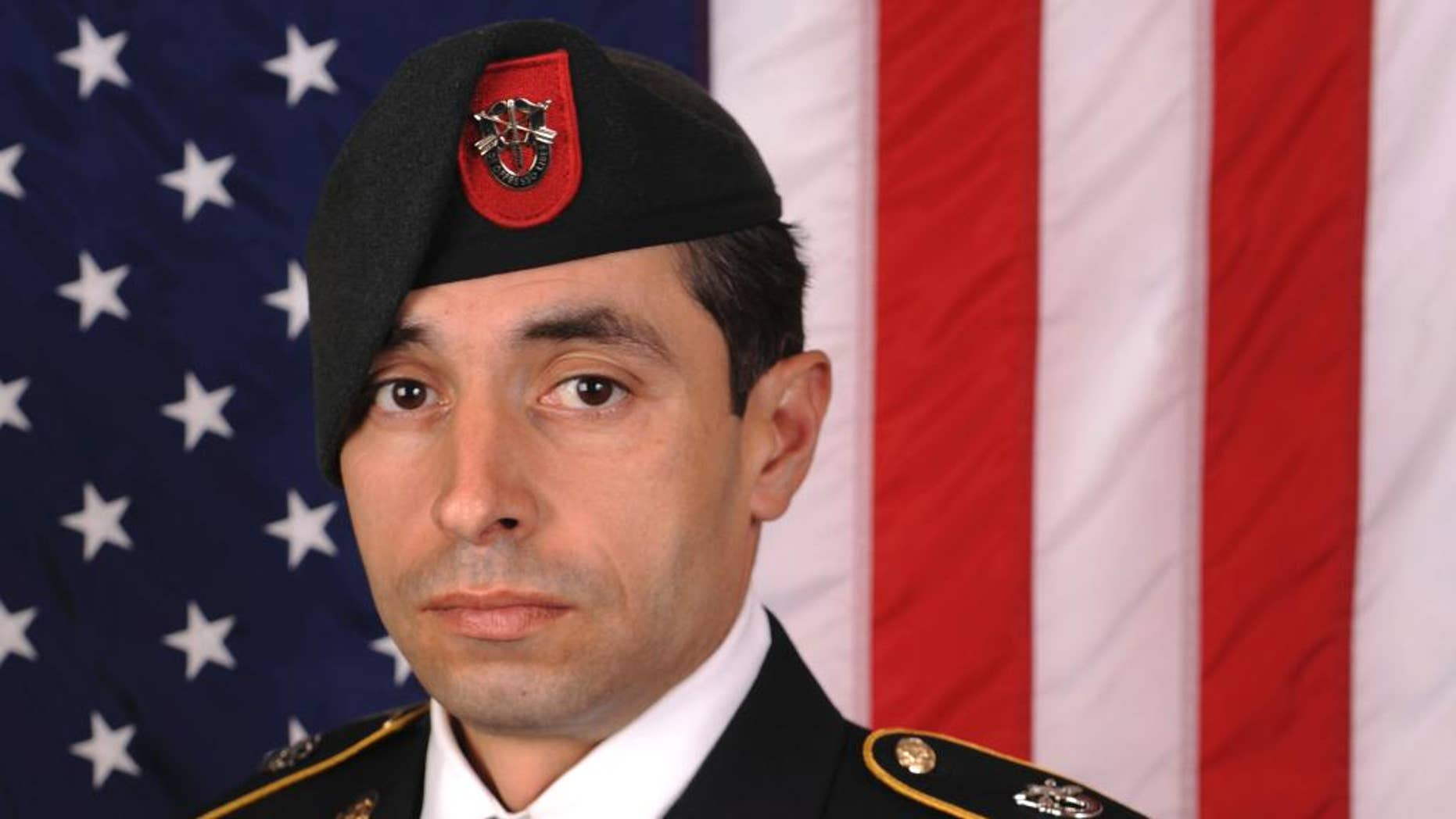 This photo provided by the US Army shows Staff Sgt. Mark De Alencar, who was killed Saturday, April 8, 2017, in combat in Afghanistan. (US Army via AP)