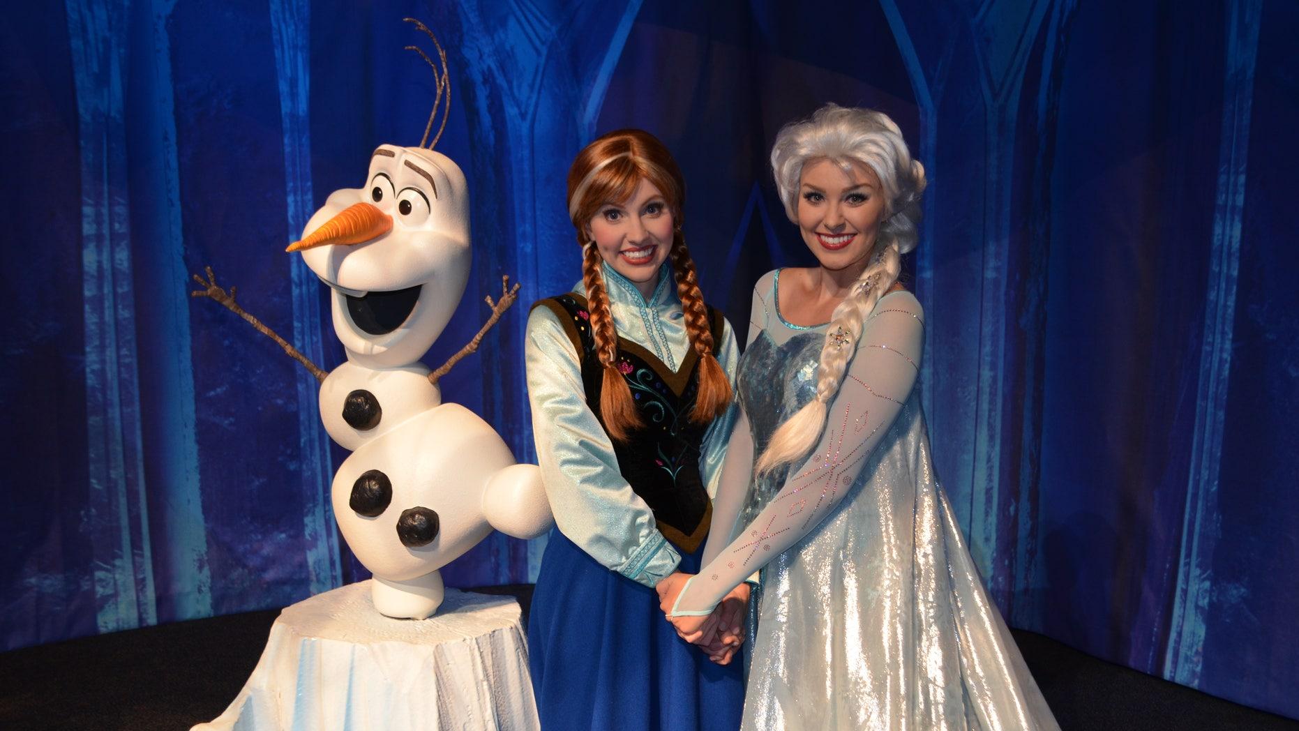 Anna and Elsa at Walt Disney World.