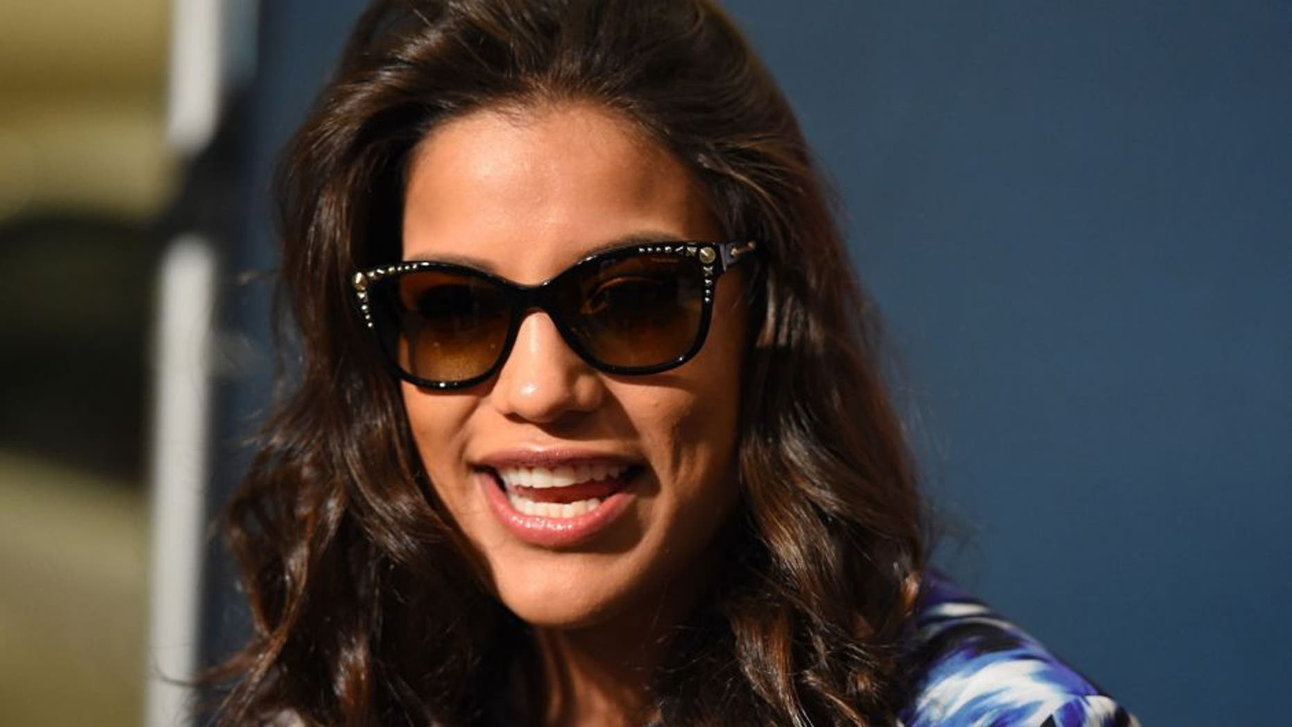 HOUSTON, TX - OCTOBER 01: Julianna Pena interacts with media during the UFC 192 Ultimate Media Day at the Toyota Center on October 1, 2015 in Houston, Texas. (Photo by Josh Hedges/Zuffa LLC/Zuffa LLC via Getty Images)