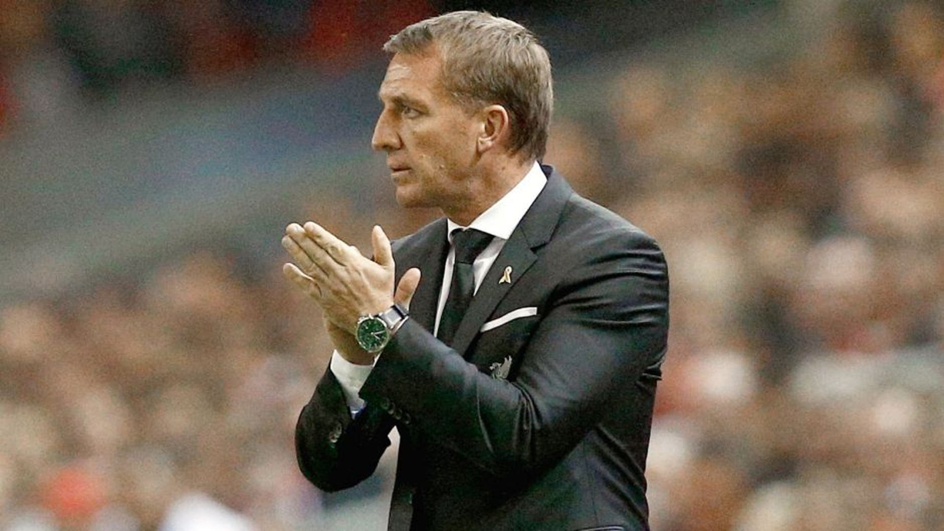 LIVERPOOL, ENGLAND - OCTOBER 01: Brendan Rodgers manager of Liverpool looks on from the touchline during the UEFA Europa League group B match between Liverpool FC and FC Sion at Anfield on October 1, 2015 in Liverpool, United Kingdom. (Photo by Dean Mouhtaropoulos/Getty Images)