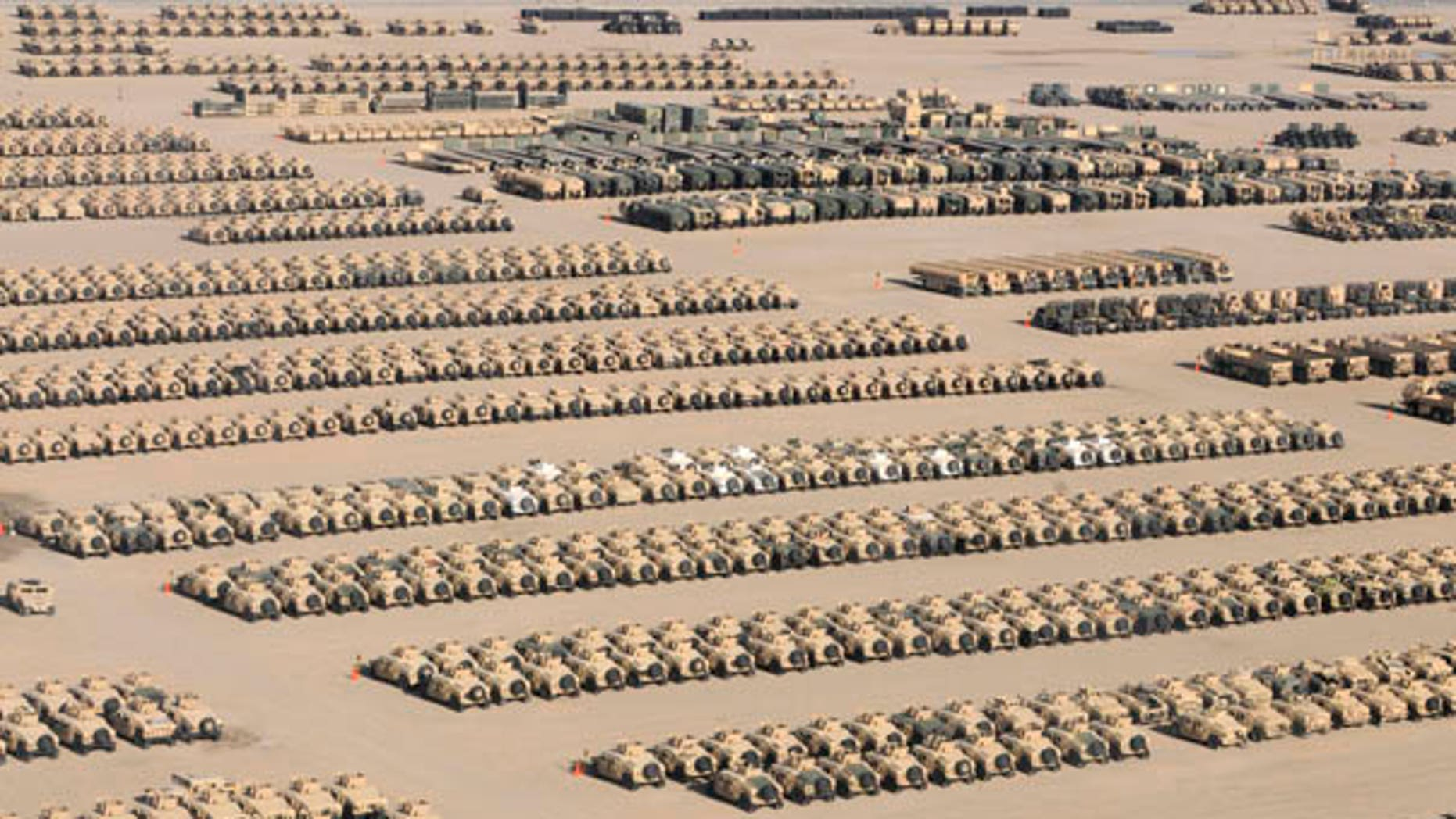 U.S. military equipment like this will have to be removed from Iraq over the next year. (Courtesy of the Pentagon)