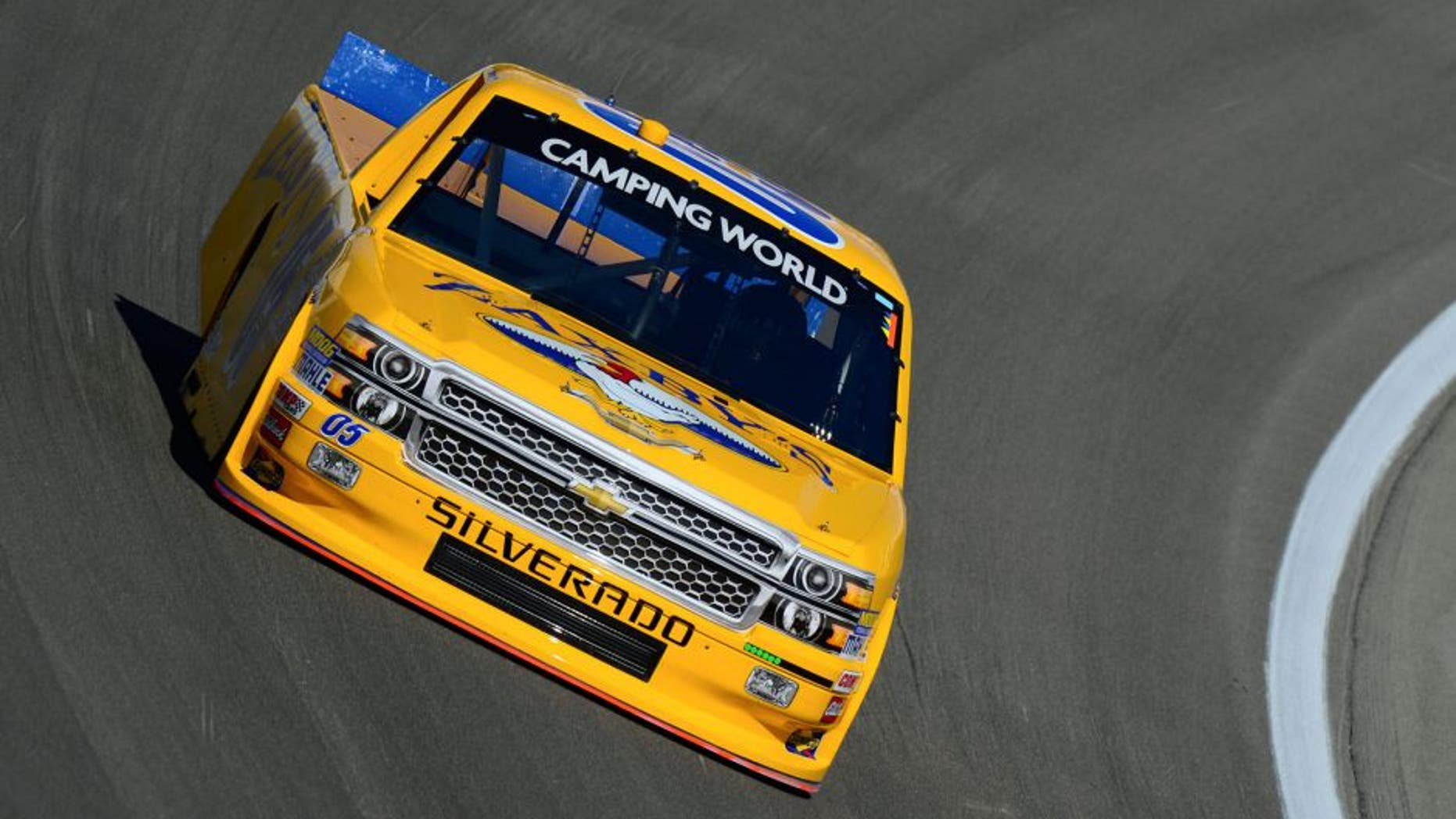LAS VEGAS, NV - OCTOBER 3: John Wes Townley driver of the #05 Zaxby's Chevrolet during practice for the NASCAR Camping World Truck Series Rhino Linings 350 at the Las Vegas Motor Speedway on October 3, 2015 in Las Vegas, Nevada. (Photo by Robert Laberge/NASCAR via Getty Images)