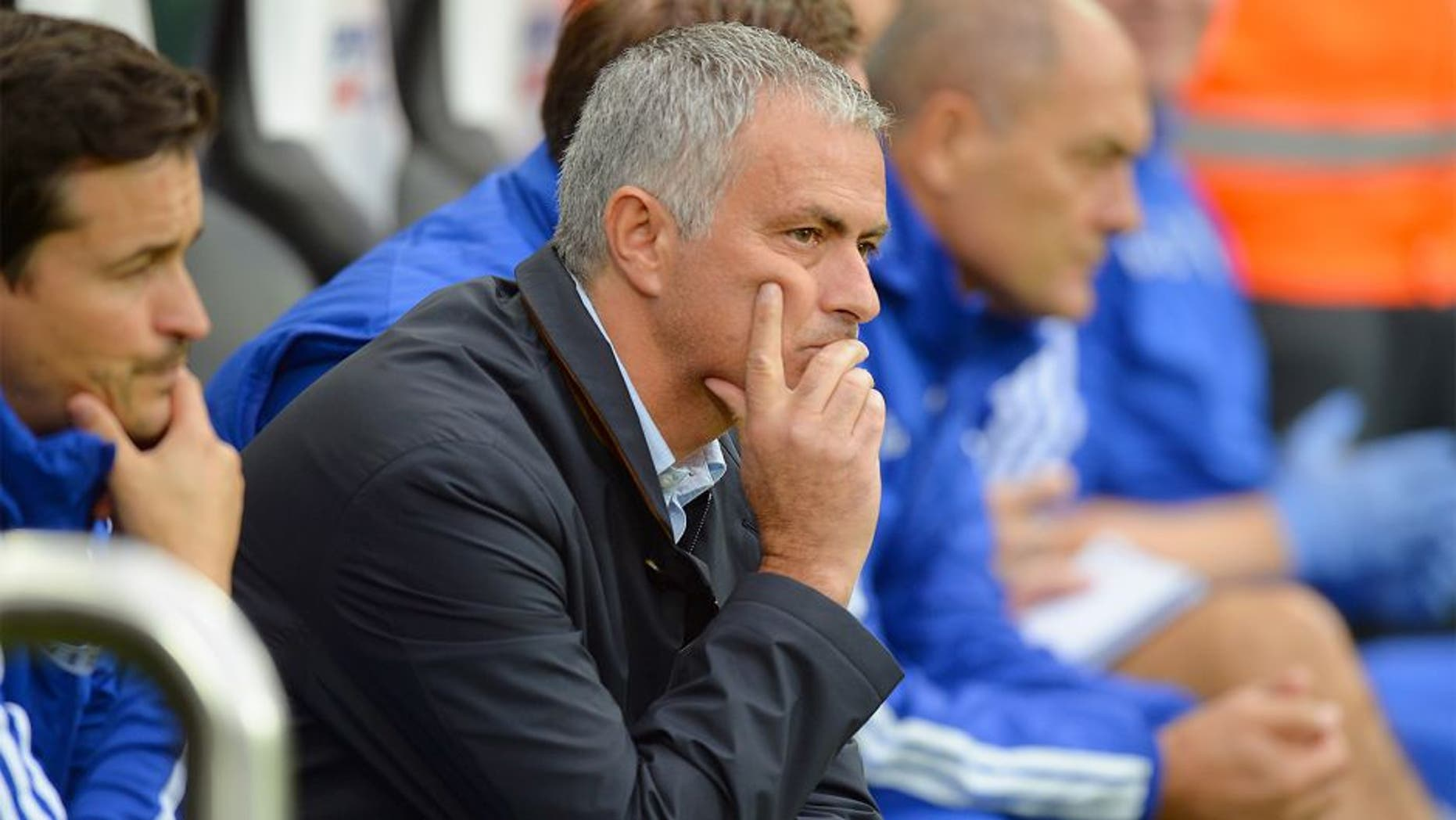 NEWCASTLE UPON TYNE, ENGLAND - SEPTEMBER 26: Jose Mourinho manager of Chelsea looks on during the Barclays Premier League match between Newcastle United and Chelsea at St James' Park on September 26, 2015 in Newcastle upon Tyne, United Kingdom. (Photo by Tony Marshall/Getty Images)