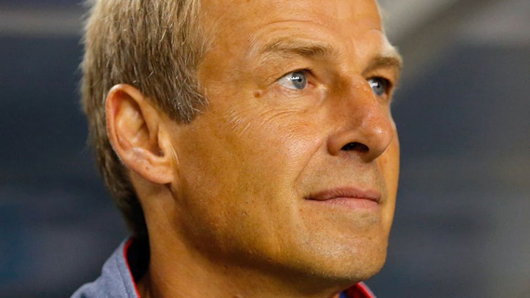 ATLANTA, GA - JULY 22: Jurgen Klinsmann of the United States of America stands prior to the 2015 CONCACAF Golf Cup Semifinal match between Jamaica and the United States at Georgia Dome on July 22, 2015 in Atlanta, Georgia. (Photo by Kevin C. Cox/Getty Images)