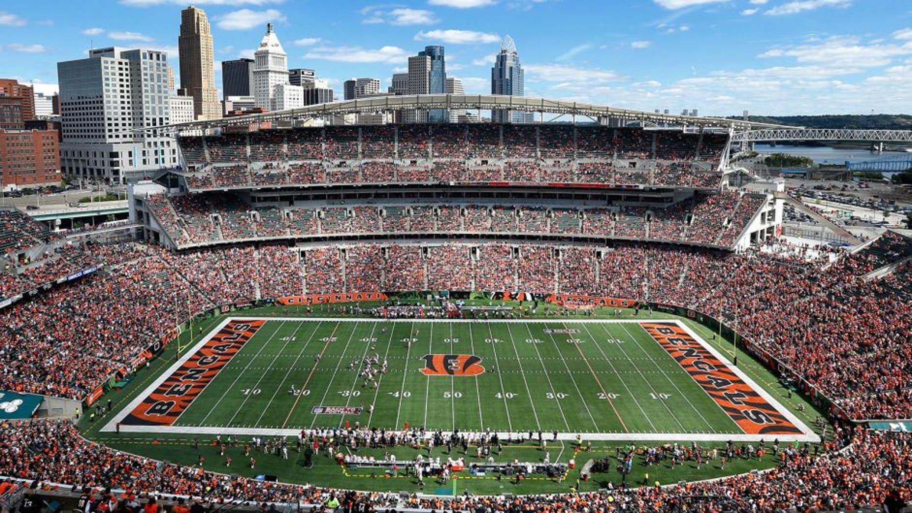 CINCINNATI, OH - SEPTEMBER 14: General view of the stadium from the upper level during the game between the Atlanta Falcons and Cincinnati Bengals at Paul Brown Stadium on September 14, 2014 in Cincinnati, Ohio. The Bengals won the game 24-10. (Photo by Joe Robbins/Getty Images) *** Local Caption ***