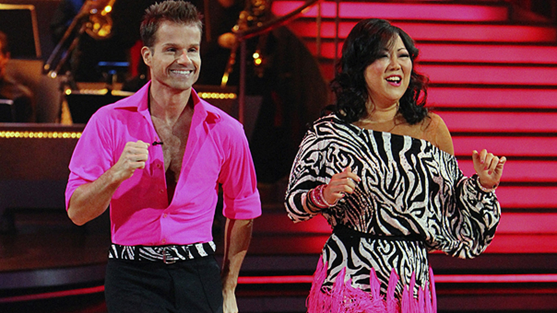 Sept. 27: In this publicity image released by ABC, Margaret Cho, right, and her partner Louis Van Amstel perform on the celebrity dance competition series 'Dancing with the Stars' in Los Angeles.