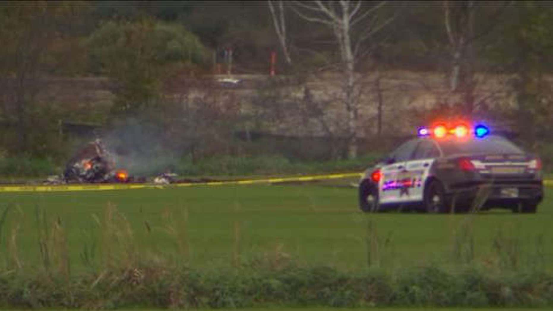 Helicopter crash in Lino Lakes, Min.