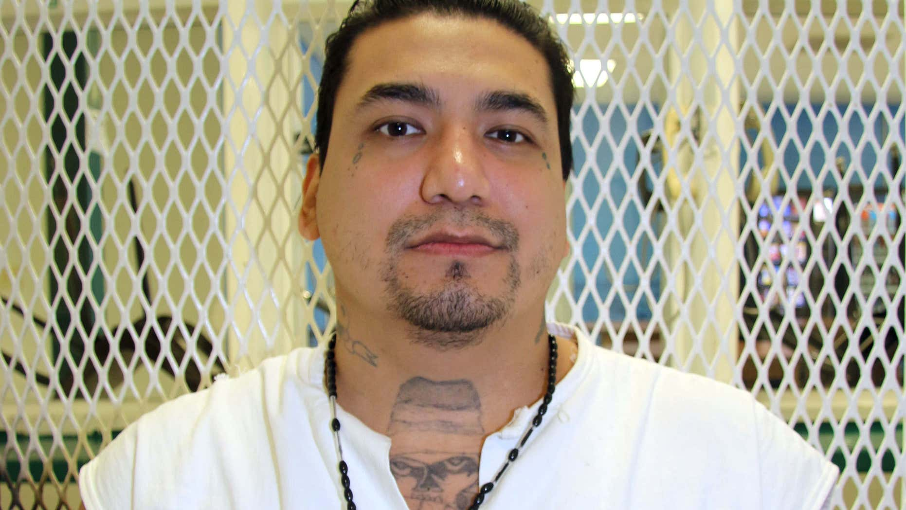 Sept. 2, 2015: Death row inmate Juan Garcia is photographed in a visiting cage at the Texas Department of Criminal Justice Polunsky Unit near Livingston, Texas.