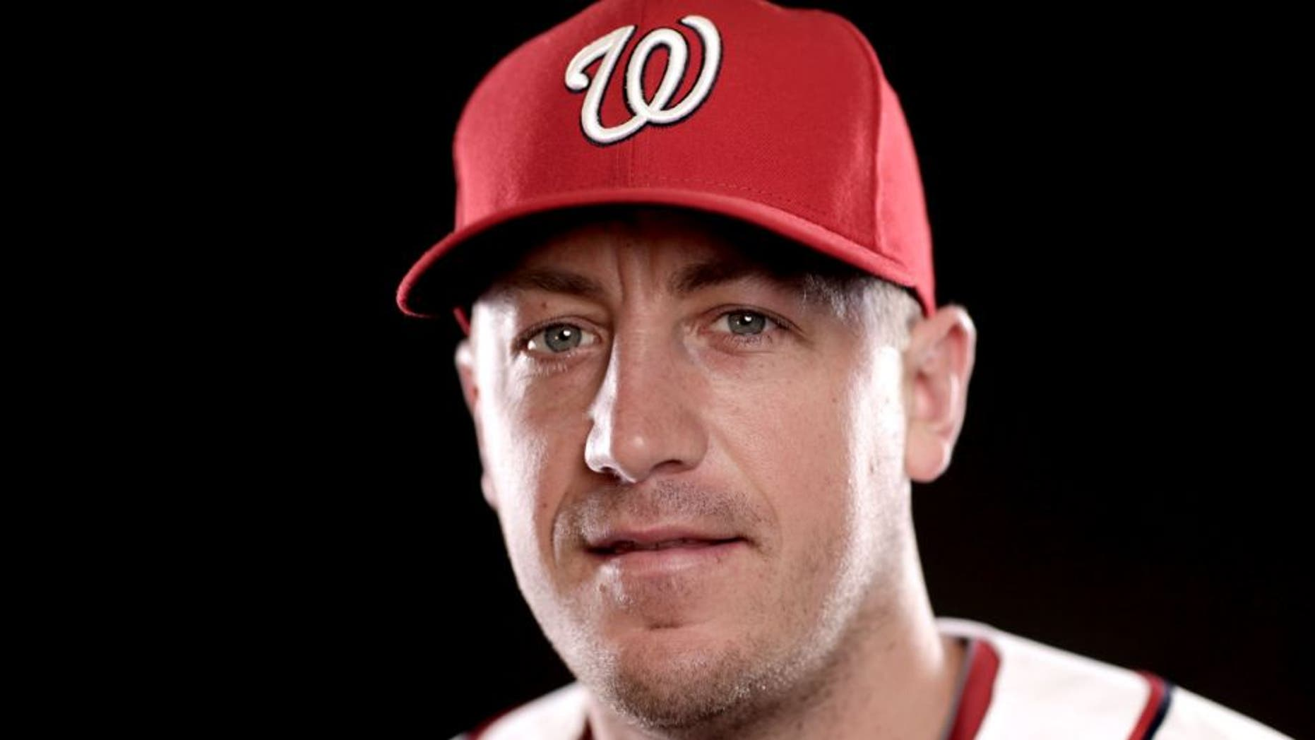 VIERA, FL - MARCH 01: Jordan Zimmermann #27 of the Washington Nationals poses for a portrait during photo day at Space Coast Stadium on March 1, 2015 in Viera, Florida. (Photo by Chris Trotman/Getty Images)