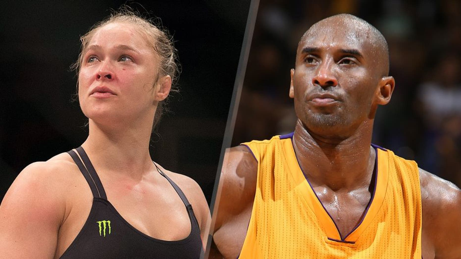 UFC women's bantamweight champion Ronda Rousey celebrates after defeating Bethe Correia of Brazil by KO during the UFC 190 event inside HSBC Arena on August 1, 2015 in Rio de Janeiro, Brazil. (Photo by Jeff Bottari/Zuffa LLC/Zuffa LLC via Getty Images) Kobe Bryant #24 of the Los Angeles Lakers looks on against the Utah Jazz during a preseason game on October 6, 2015 at the Stan Sheriff Center in Honolulu, Hawaii. NOTE TO USER: User expressly acknowledges and agrees that, by downloading and or using this Photograph, user is consenting to the terms and conditions of the Getty Images License Agreement. Mandatory Copyright Notice: Copyright 2015 NBAE (Photo by Jay Metzger/NBAE via Getty Images)