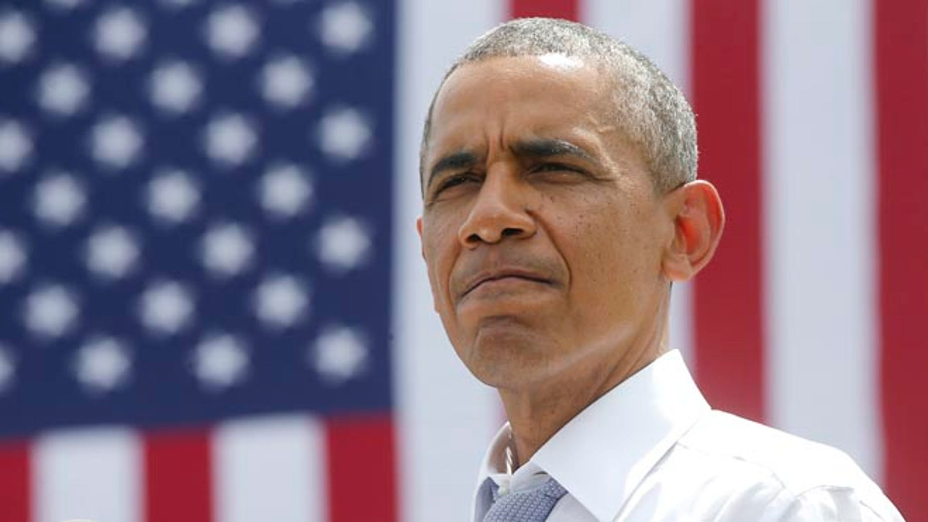 President Barack Obama on Tuesday, July 1, 2014, at the Georgetown Waterfront Park in Washington.